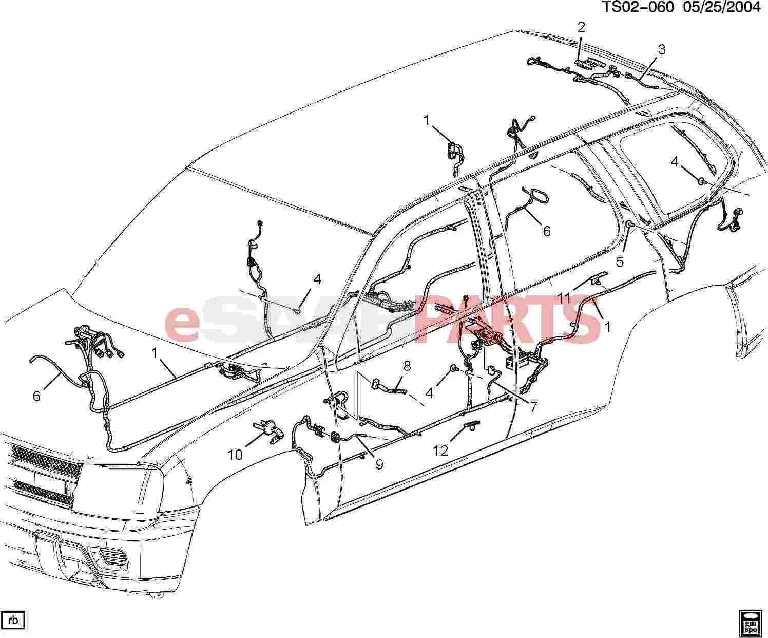 eSaabParts.com - Saab 9-7x > Electrical Parts > Wiring Harness > Wiring  Harness/Body