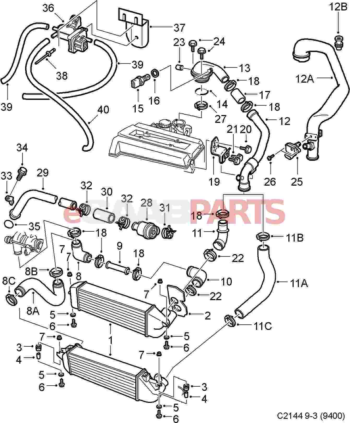 2003 Saab 93 Engine Diagram on nissan an pcv valve location