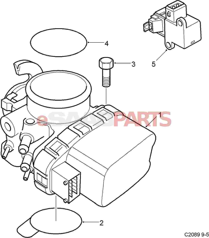 5950191 saab throttle body genuine saab parts from. Black Bedroom Furniture Sets. Home Design Ideas