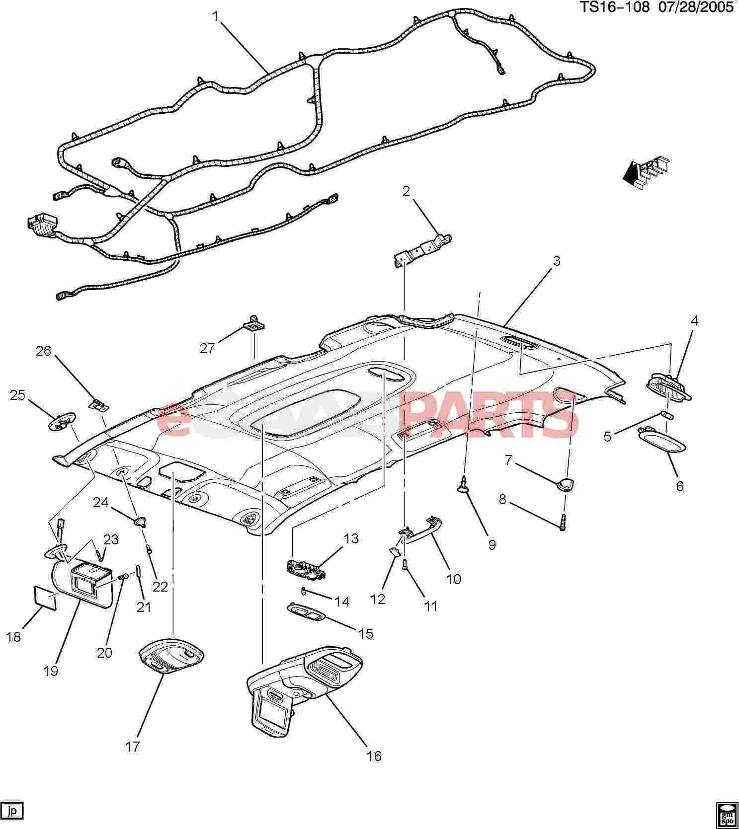 eSaabParts com - Saab 9-7x > Car Body: Internal Parts > Body