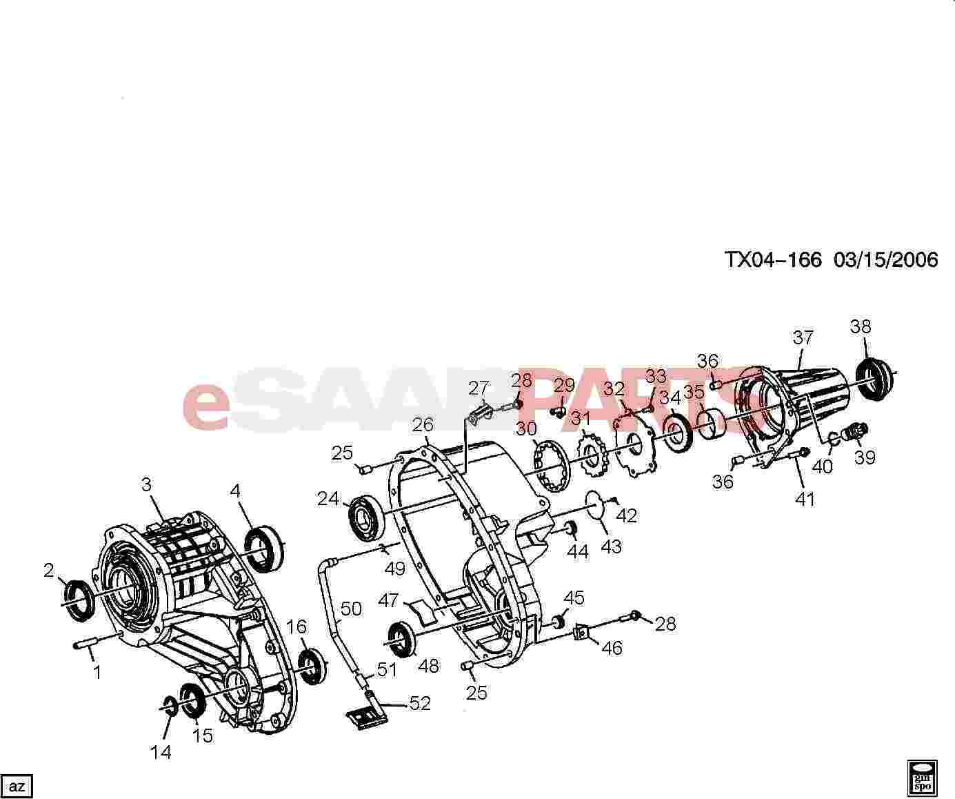 12547173  saab bearing  rear output main shf rr