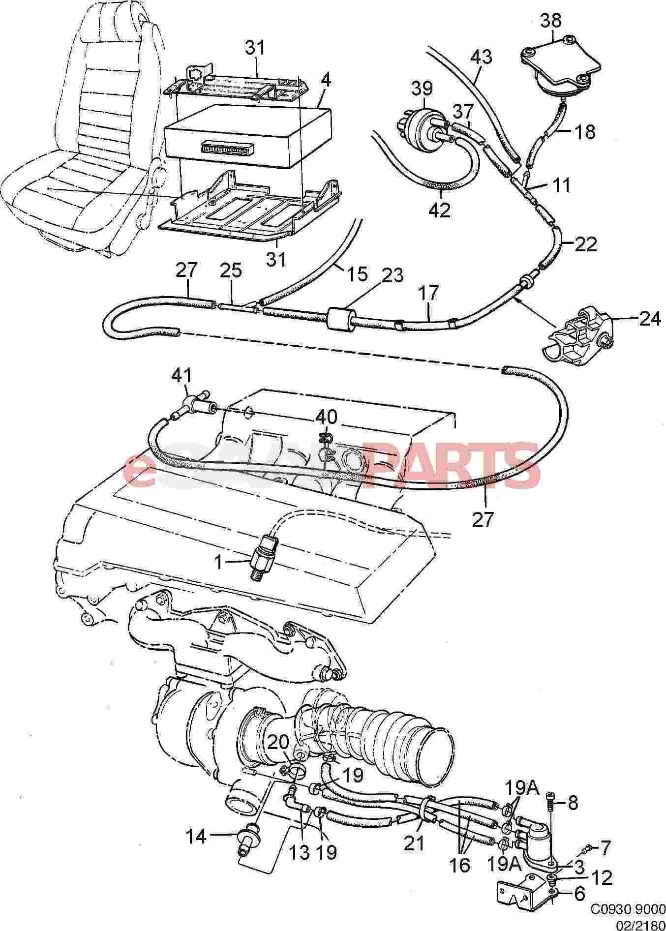 [7485576] saab boost pressure control valve - genuine saab ... saab fuel pressure diagram
