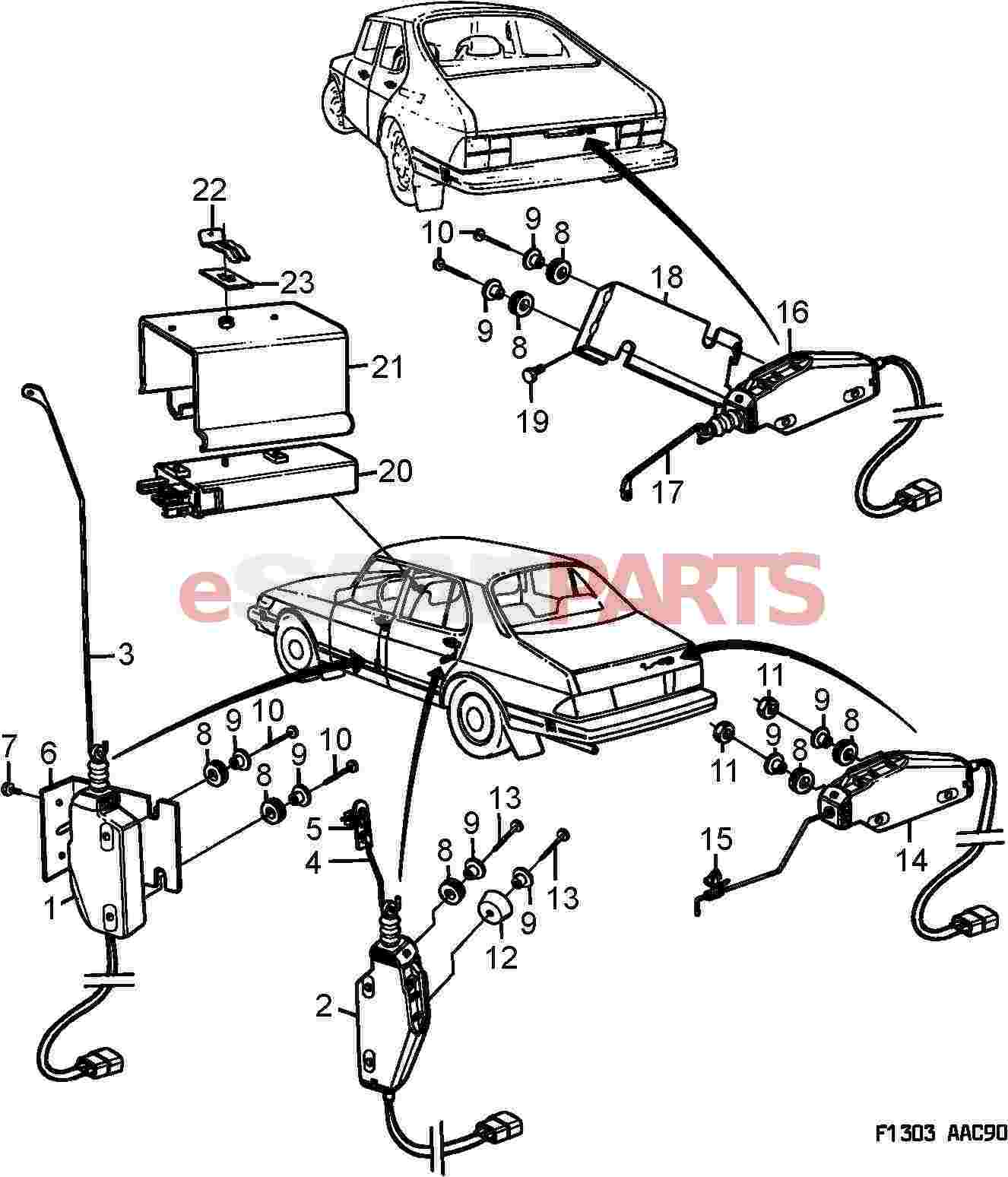8591224] saab electrical motor genuine saab parts from esaabparts com saab 95 wiring diagram saab 900 central locking wiring diagram #26