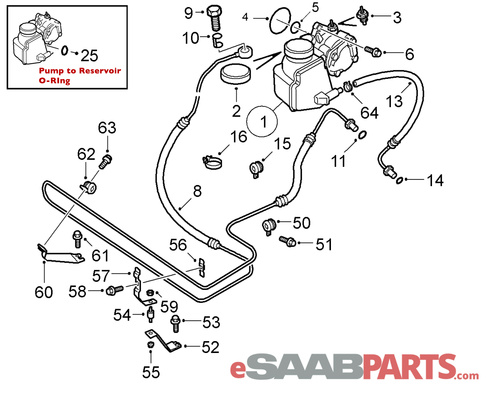 12801788  saab seal  outer - power steering pump shaft