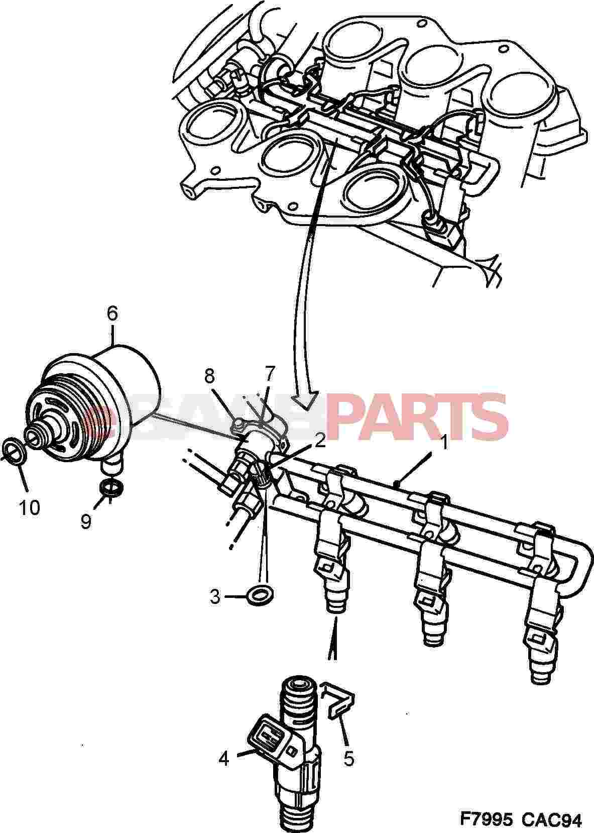9118850  saab fuel pressure regulator