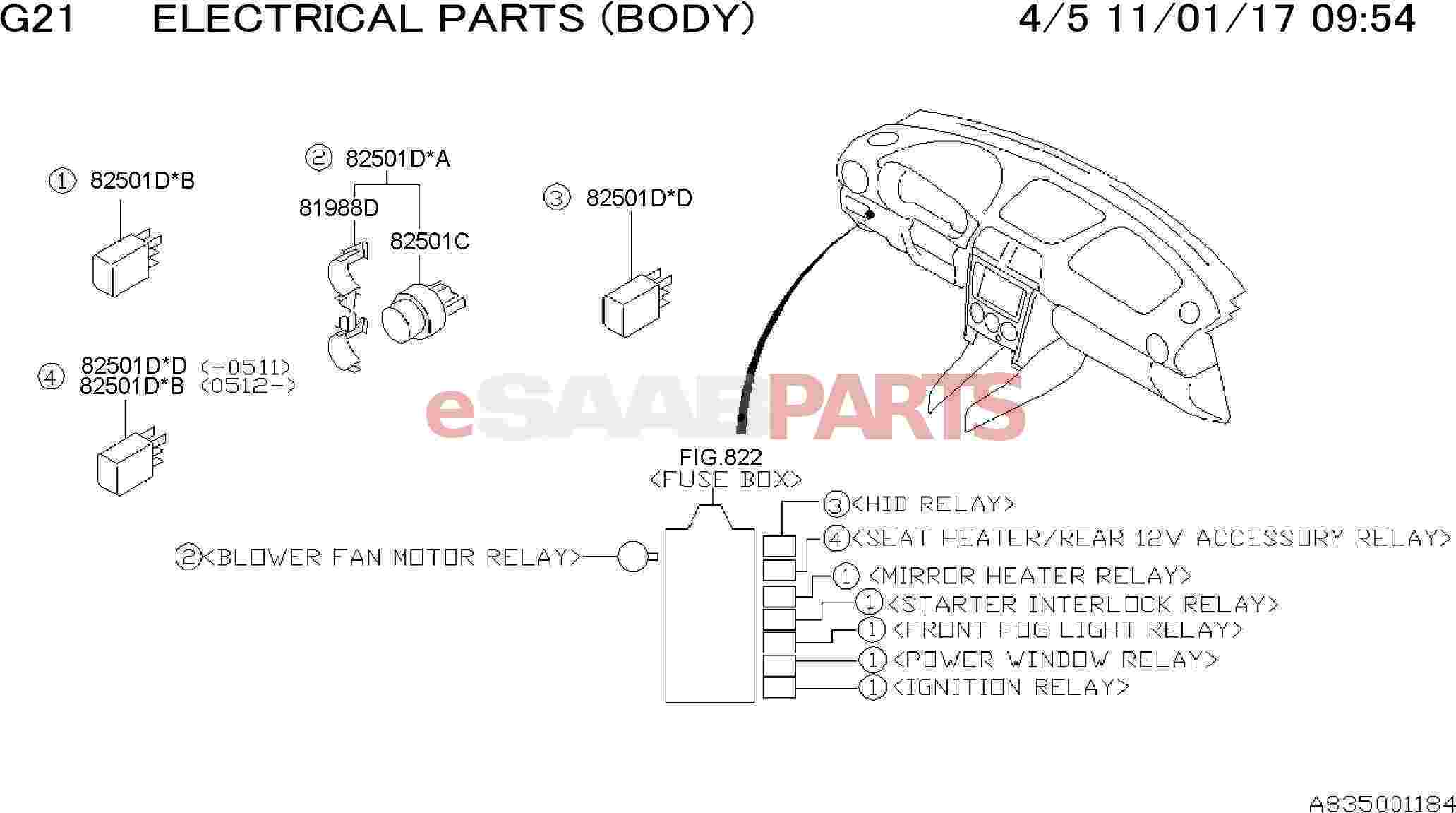 32008580 Saab Clip Relay Holder Genuine Parts From Hid Fog Lights Wiring Diagram Image 81988d