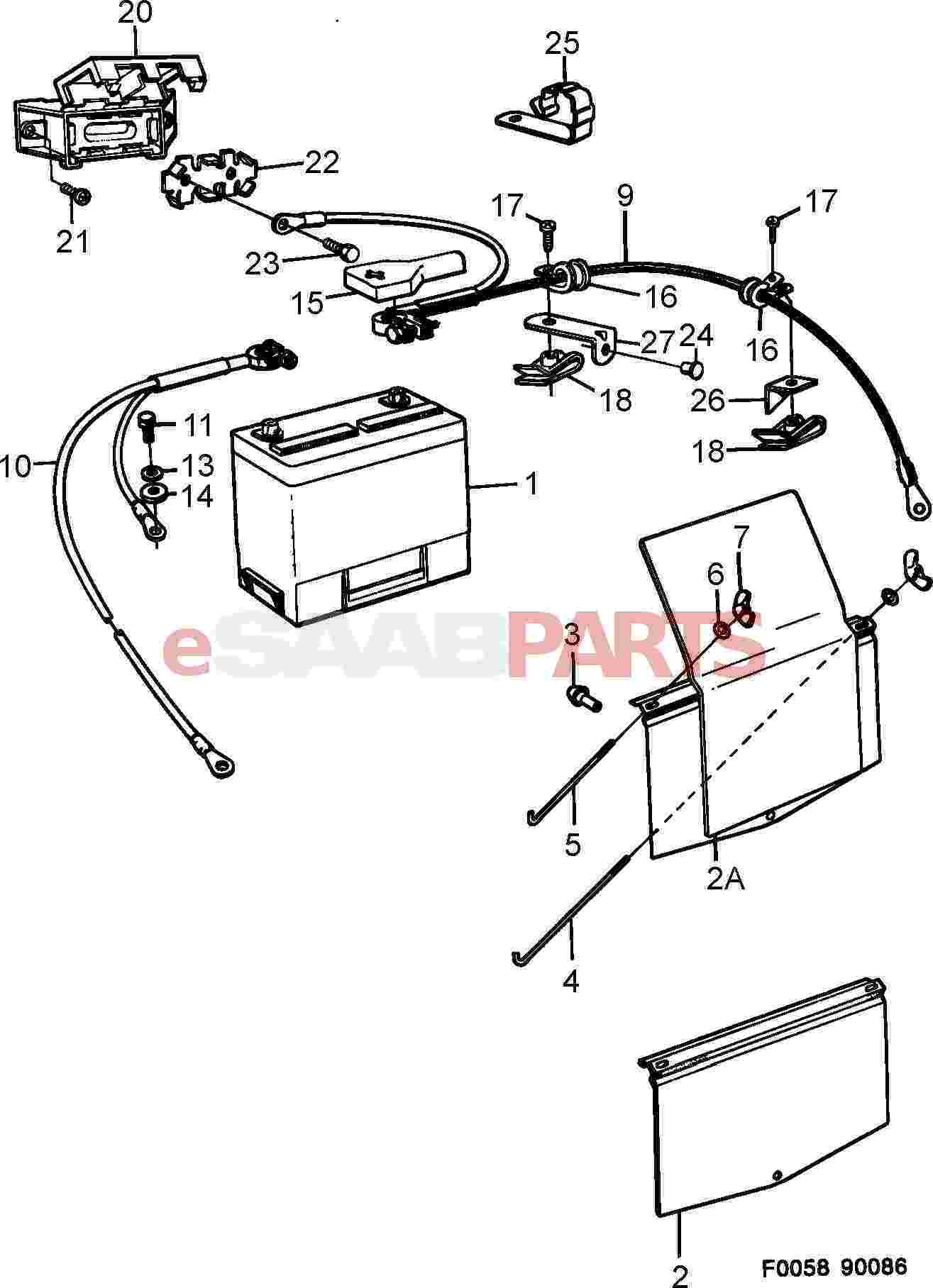 Saab 900 Electrical Parts Alternator Related Wiring Diagram 1989 Battery