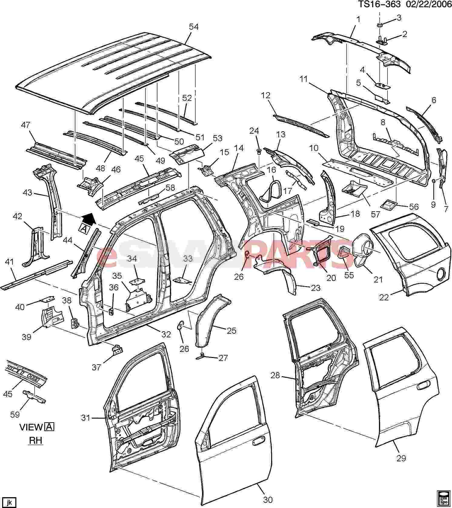 ford f 350 roof diagram