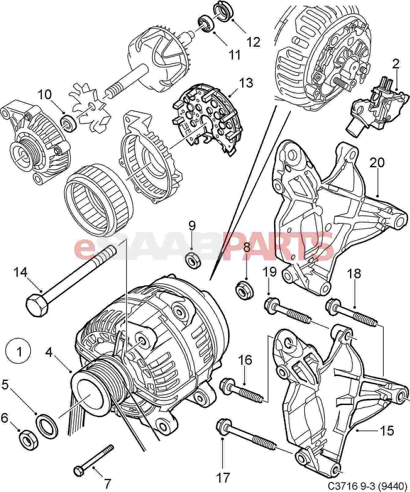 53466 saab 9 3 alternator part diagram wiring diagram library