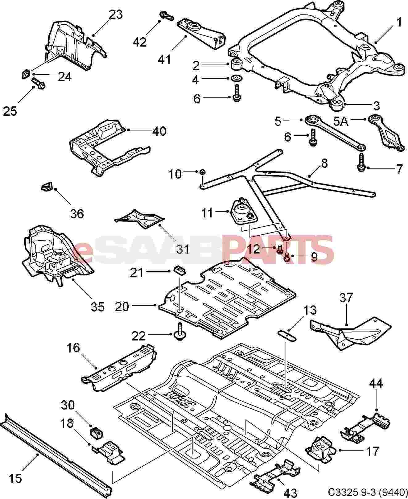 92150086  Saab Hexagon Screw