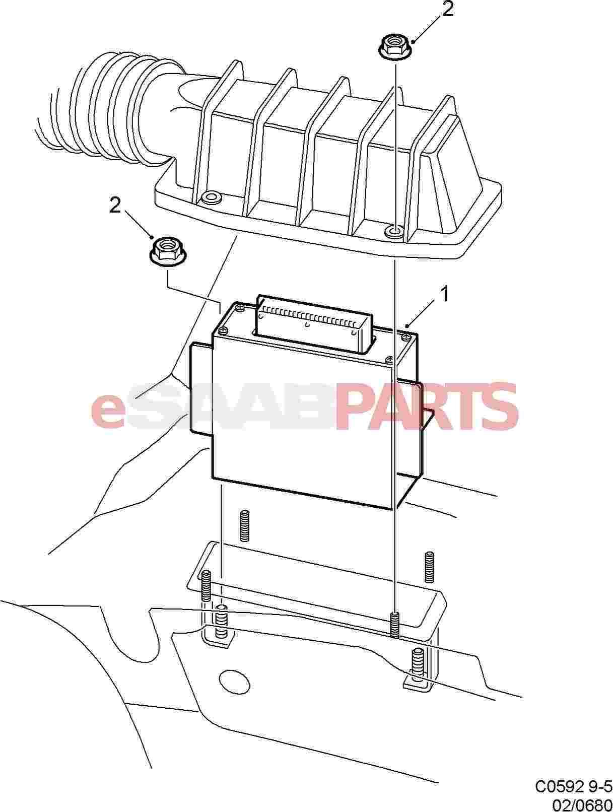 esaabparts saab 9 5 9600 electrical parts engine control Saab 9 5 Repair Manual esaabparts saab 9 5 9600 electrical parts engine control module trionic ecm 2001 2009