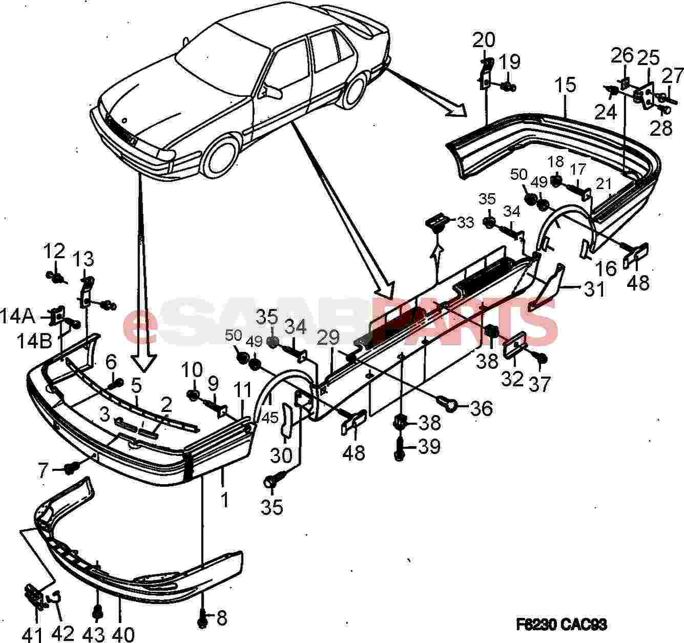 Saab 9000 Parts Diagram Wiring Fuse Box Engine 4090197 Clip Genuine From Esaabparts Com Rh 2004 9 3 Body List