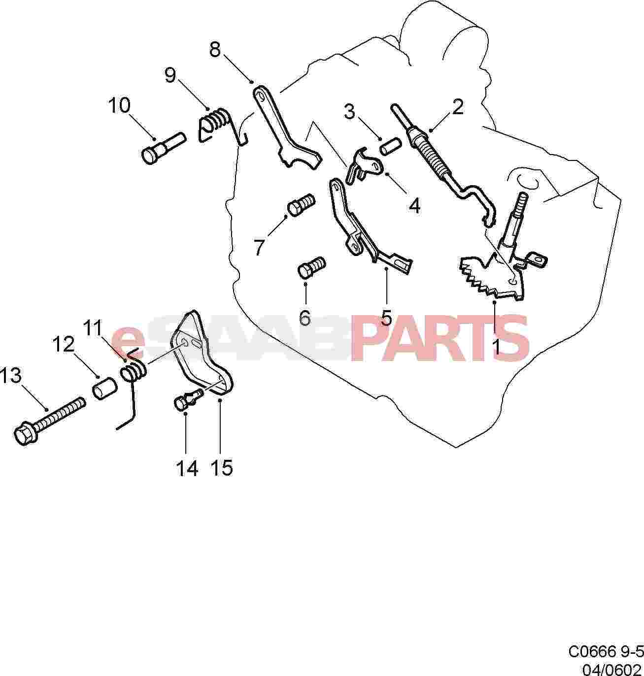 Saab 9 5 9600 Transmission Parts 99 Engine Diagram Automatic Controls In Gearbox At 01