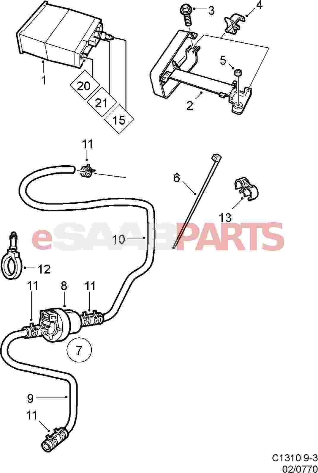 4442471  saab evap canister purge valve