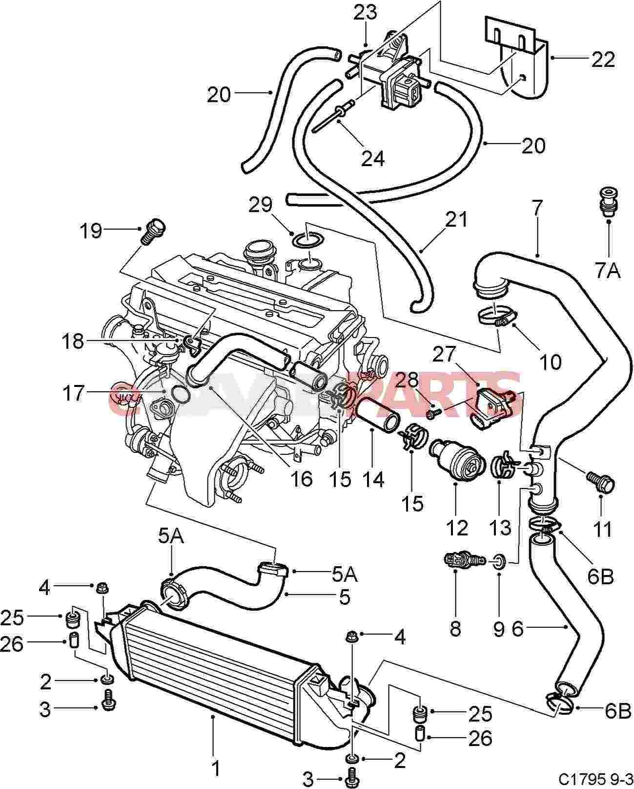 4441895 Saab Charge Air Bypass Valve Genuine Parts From. Wiring. Intercooler Engine With Turbocharger Diagram At Scoala.co