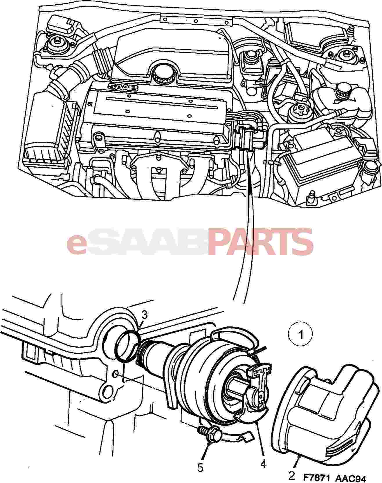 Saab 900 Electrical Parts Ignition Components Wiring Diagram Distributor 4 Cylinder