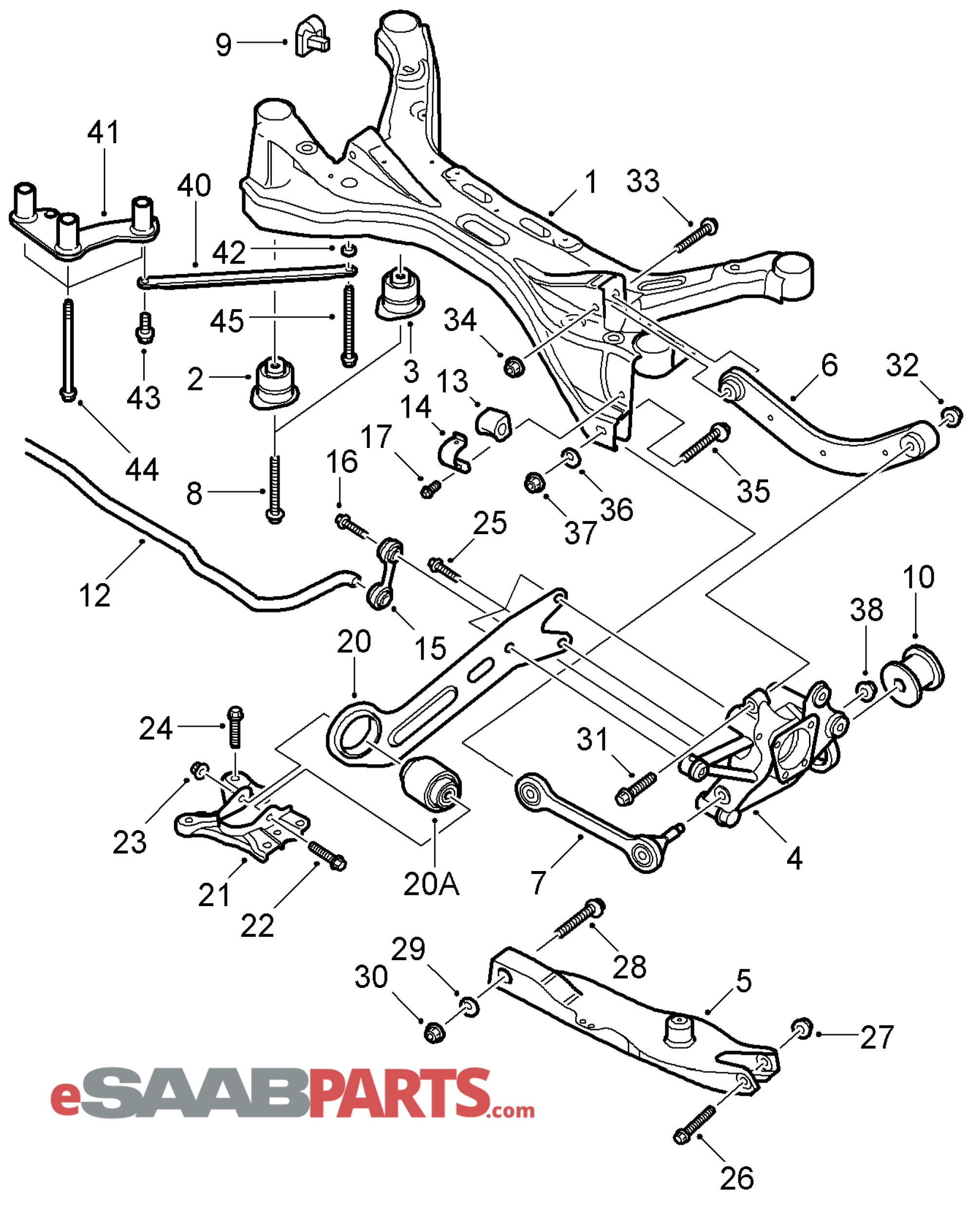 13230274  saab control arm  upper