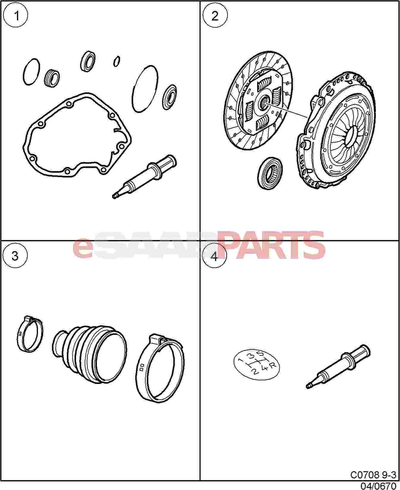 4614012  saab clutch kit b204r  b205r