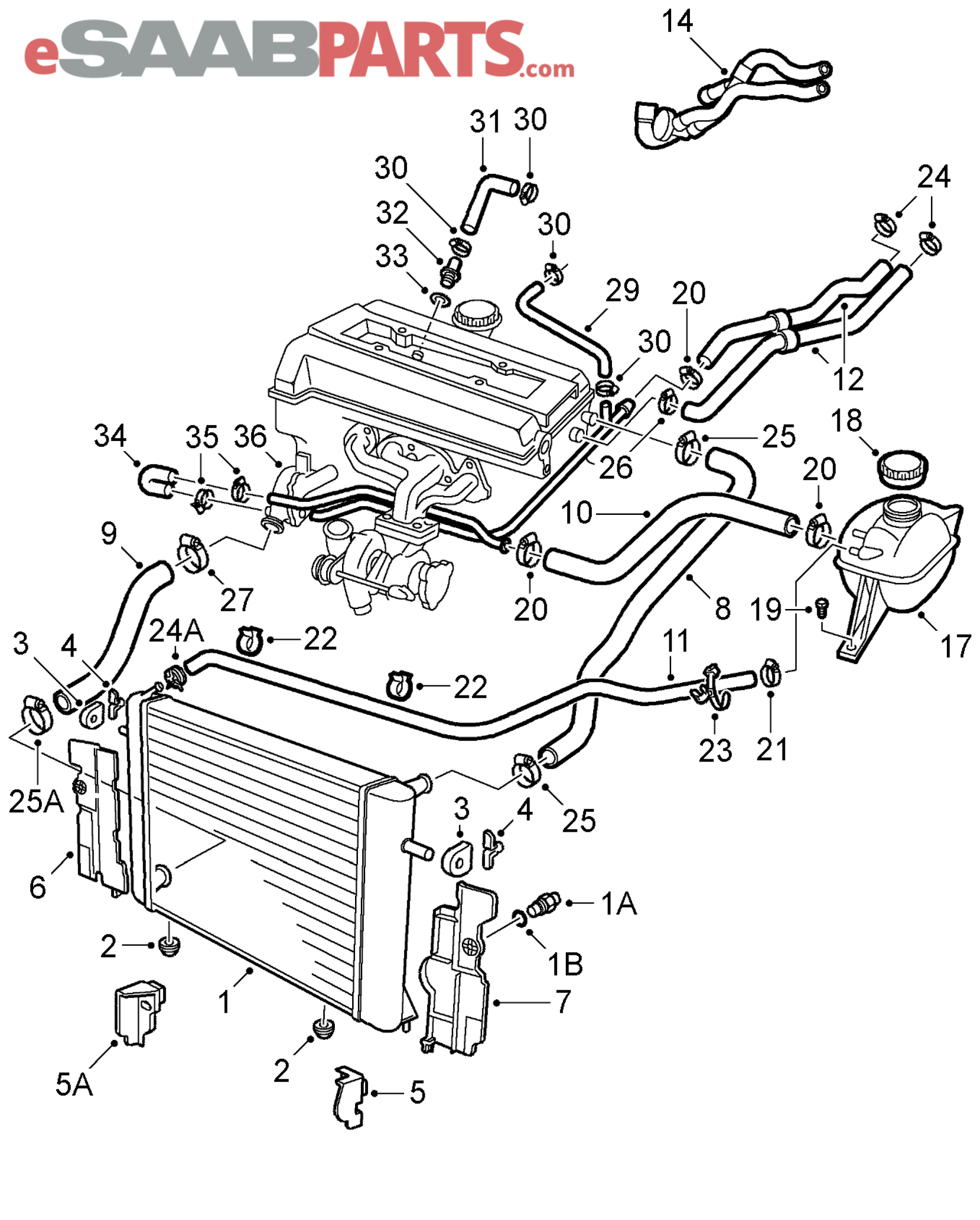 Saab 93 Engine Cooling Diagram