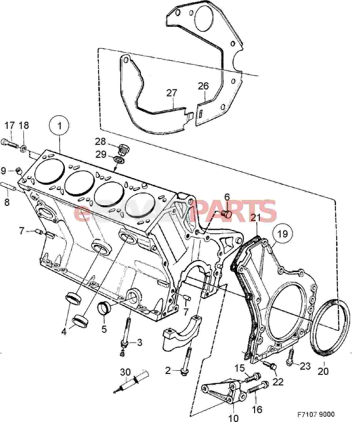 55557240  Saab Rear Main Seal - Crankshaft