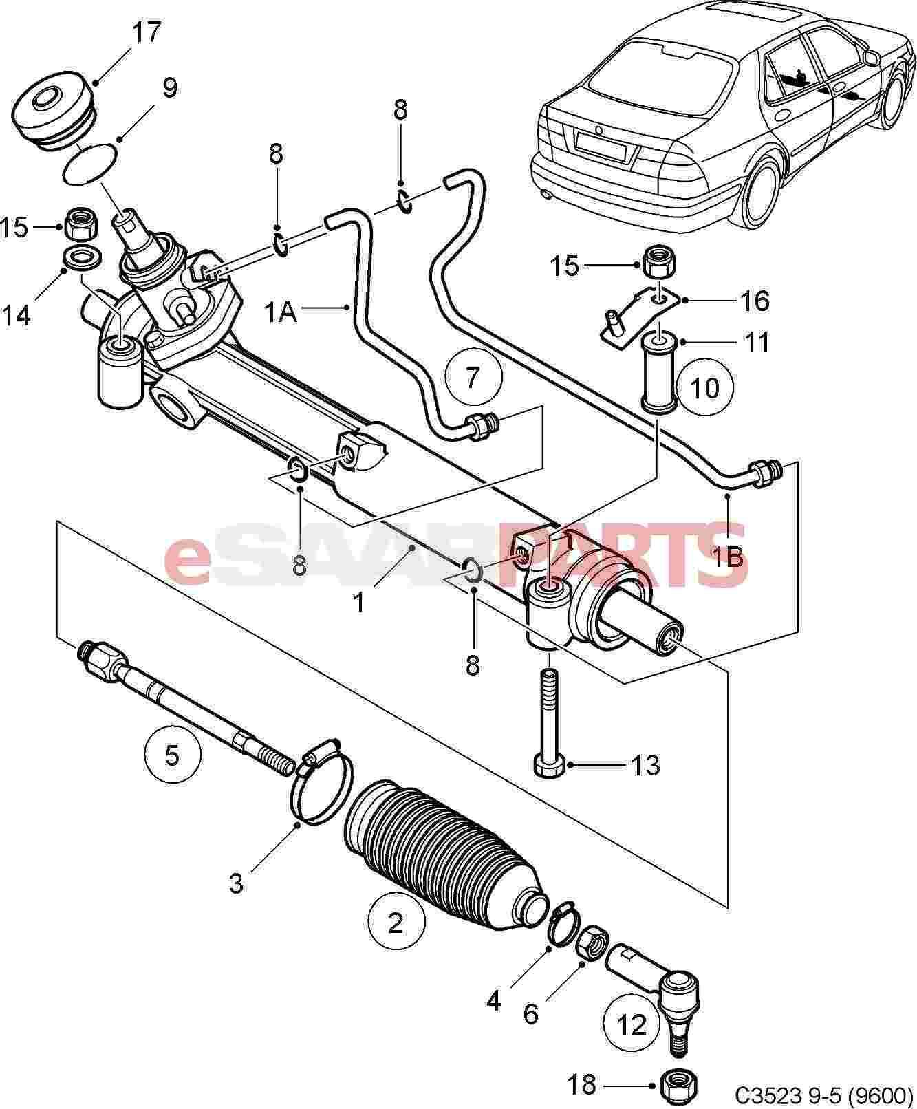 1 Steering Tie Rod End-Meyle Steering Tie Rod End WD Express fits  Saab 9-5
