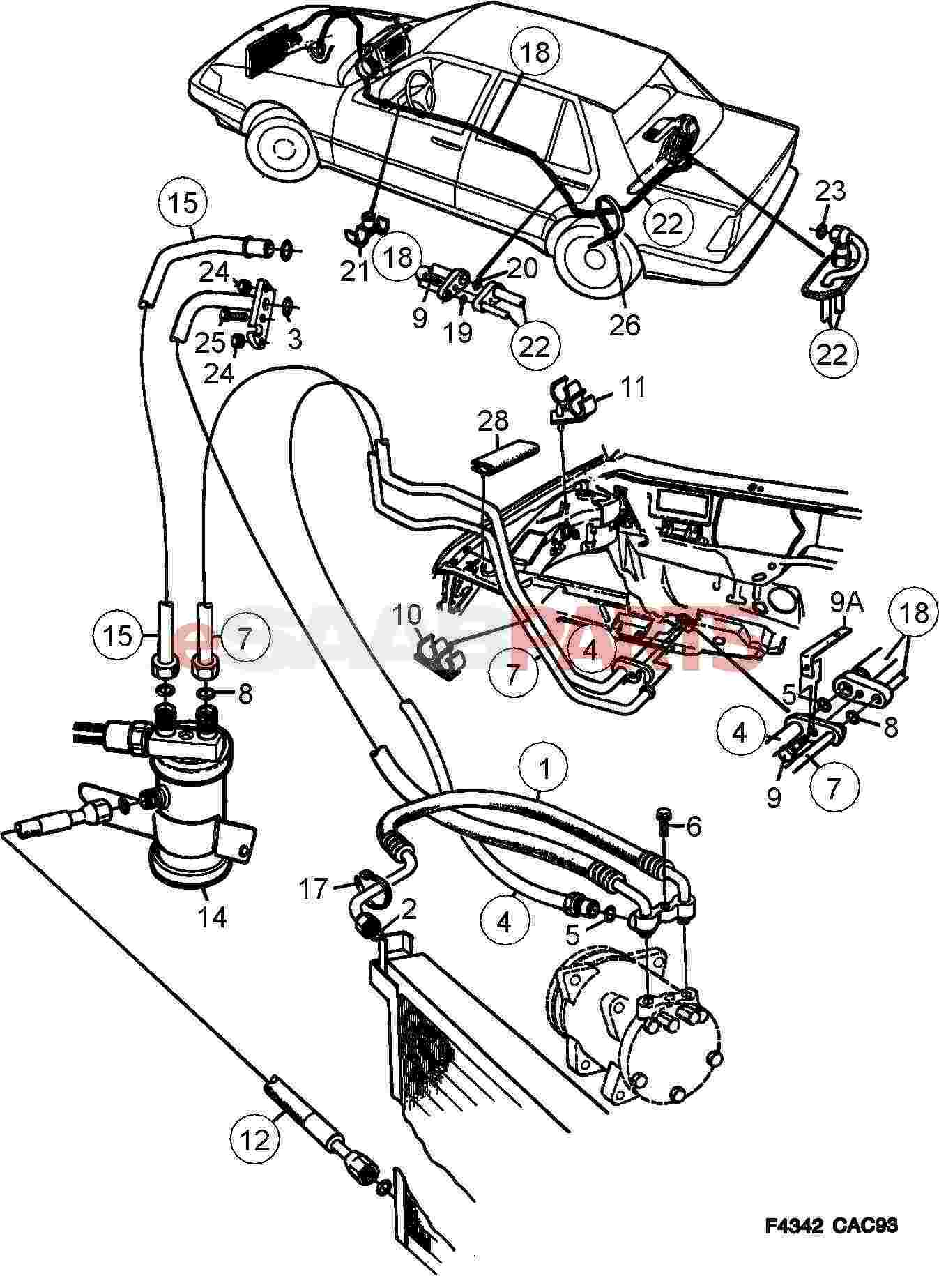 4074027  saab pipe bracket