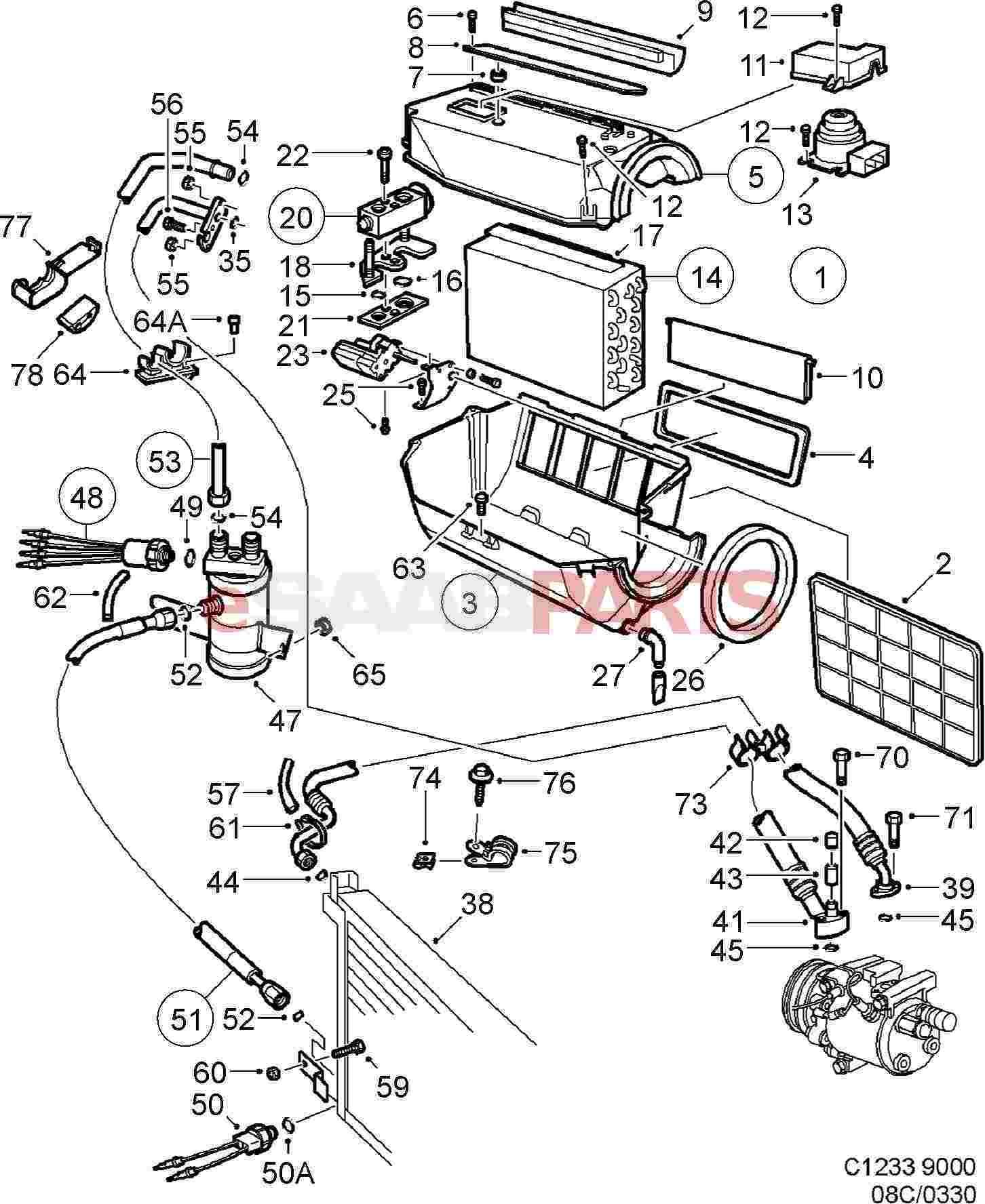 Genuine SAAB 9000 1992-1998 AC évaporateur Réservoir-Neuf-Prix Bas 4383584