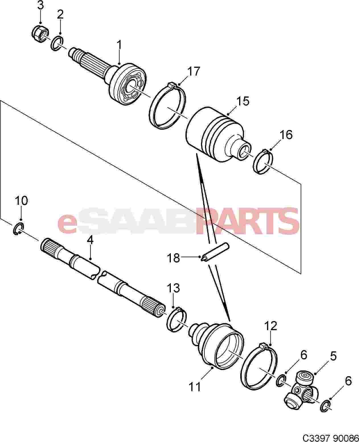 eSaabParts com - Saab C900 > Transmission Parts > CV Joints