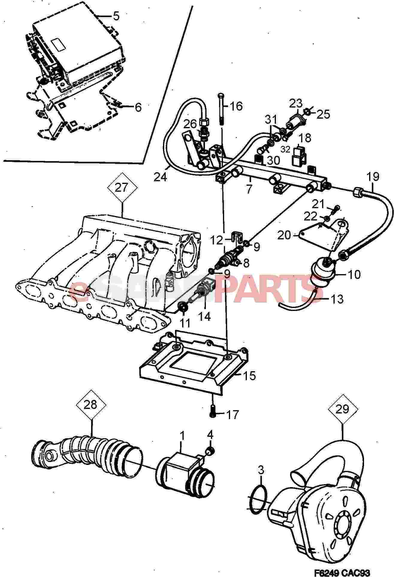 service manual  1986 saab 900 hydraulic fan pump removal