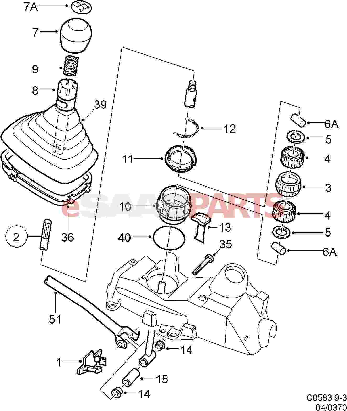 4490314 saab reverse lock genuine saab parts from esaabparts com rh esaabparts com 1999 saab 9-3 parts diagram saab 93 parts diagram