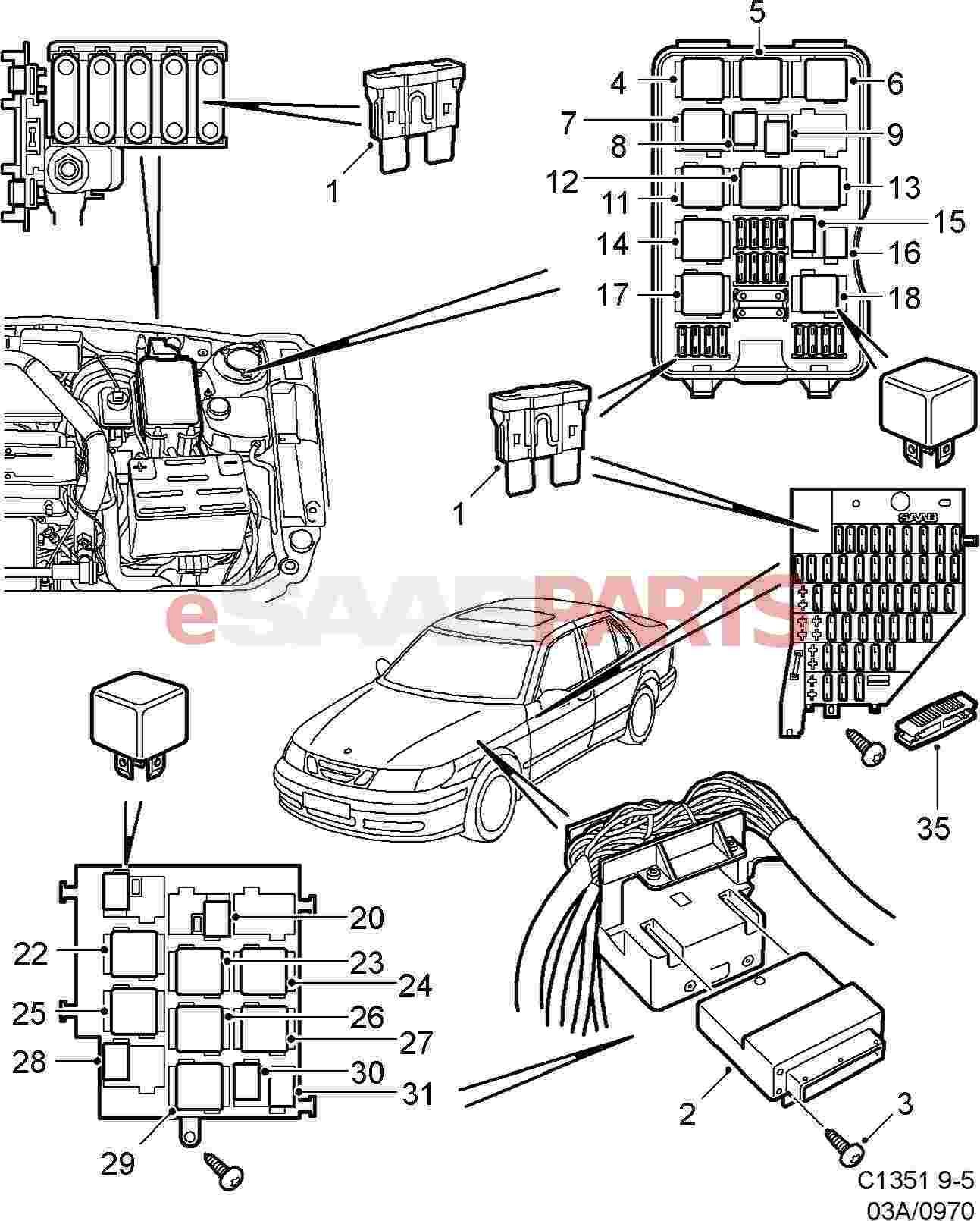 4947115 Saab Relay Genuine Parts From Dice Wiring Diagram Image 30