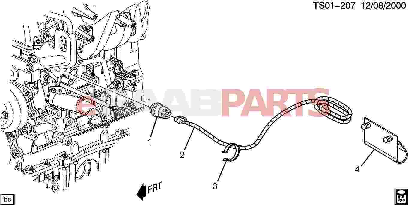 15269436  saab cord  engine cool htr