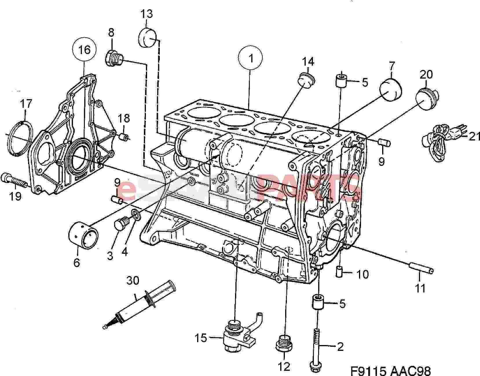 92150435 saab gasket genuine saab parts from esaabparts com rh esaabparts com 1993 Saab 900 Engine Diagram Saab 900 Engine Diagram