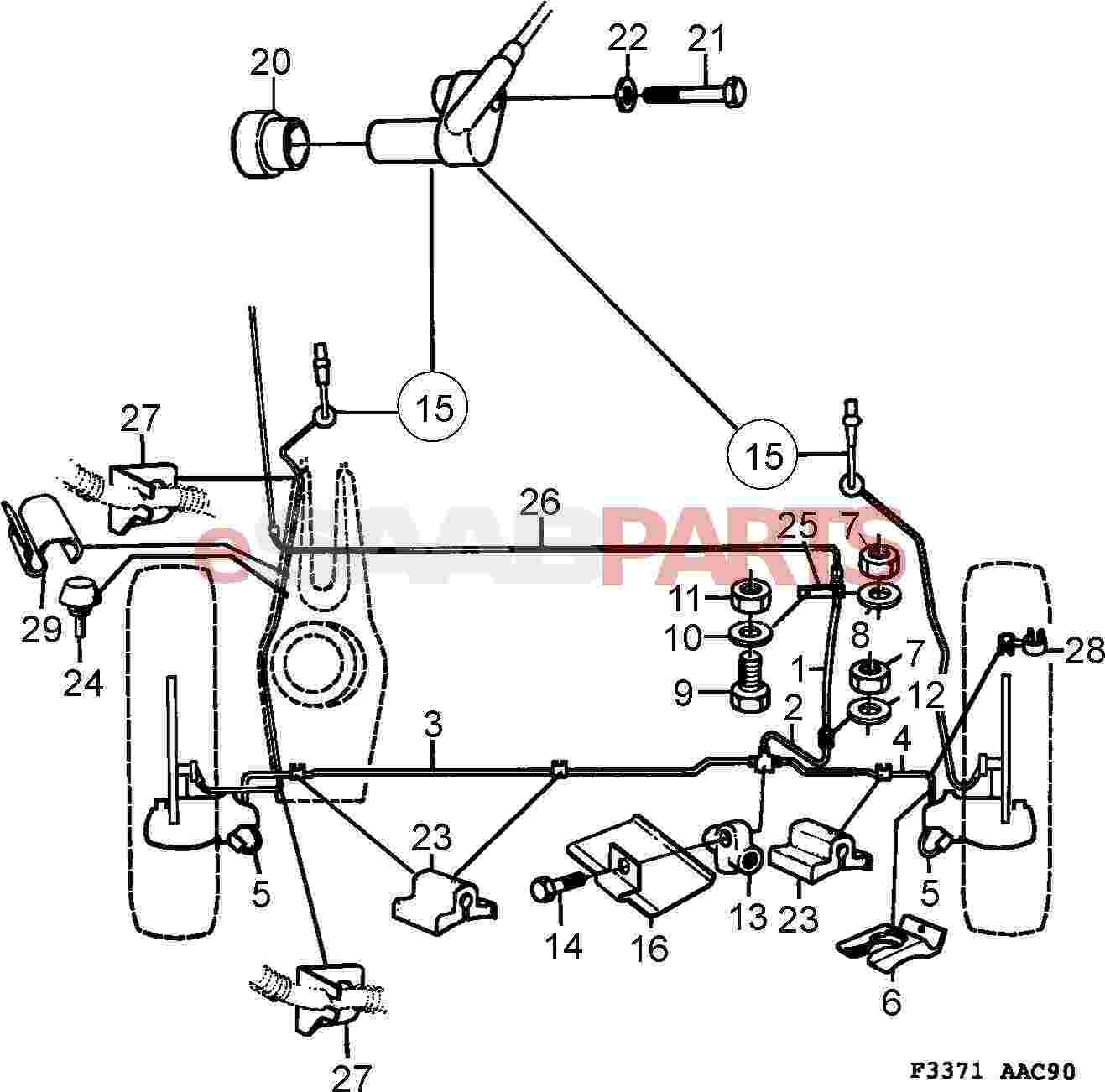 1992 saab 900 wiring diagram [1993 saab 900 diagram showing brake line] - 9529975 saab ... #15