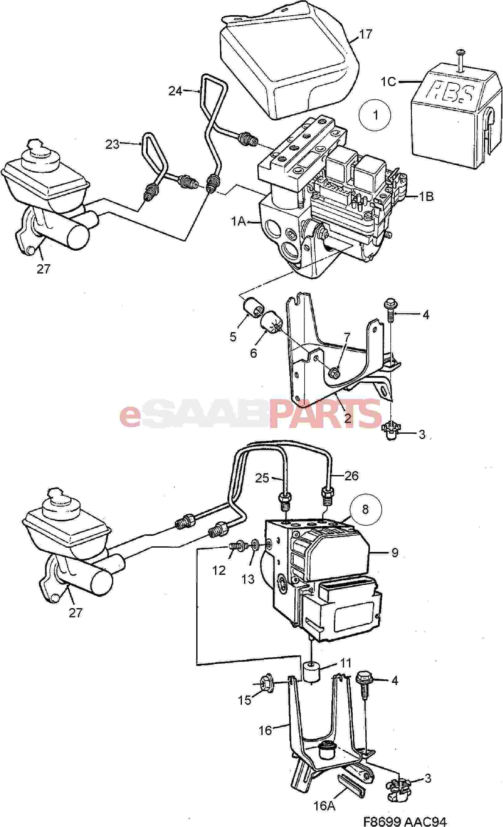 5390091  saab hydraulic unit