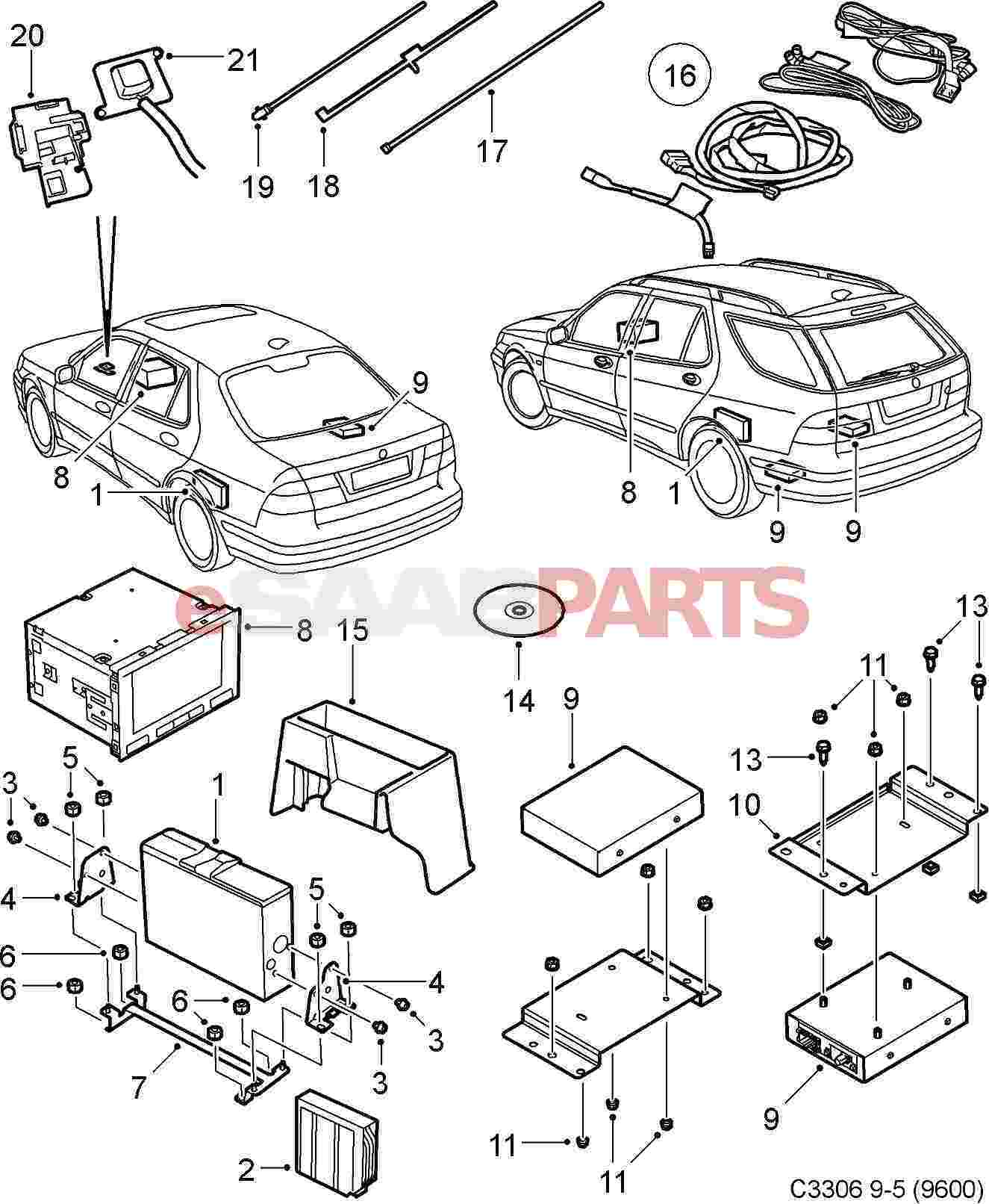 [5374517] saab navigation radio (denso) 2005 - genuine ... suzuki navigation wiring diagram saab navigation wiring diagram #11