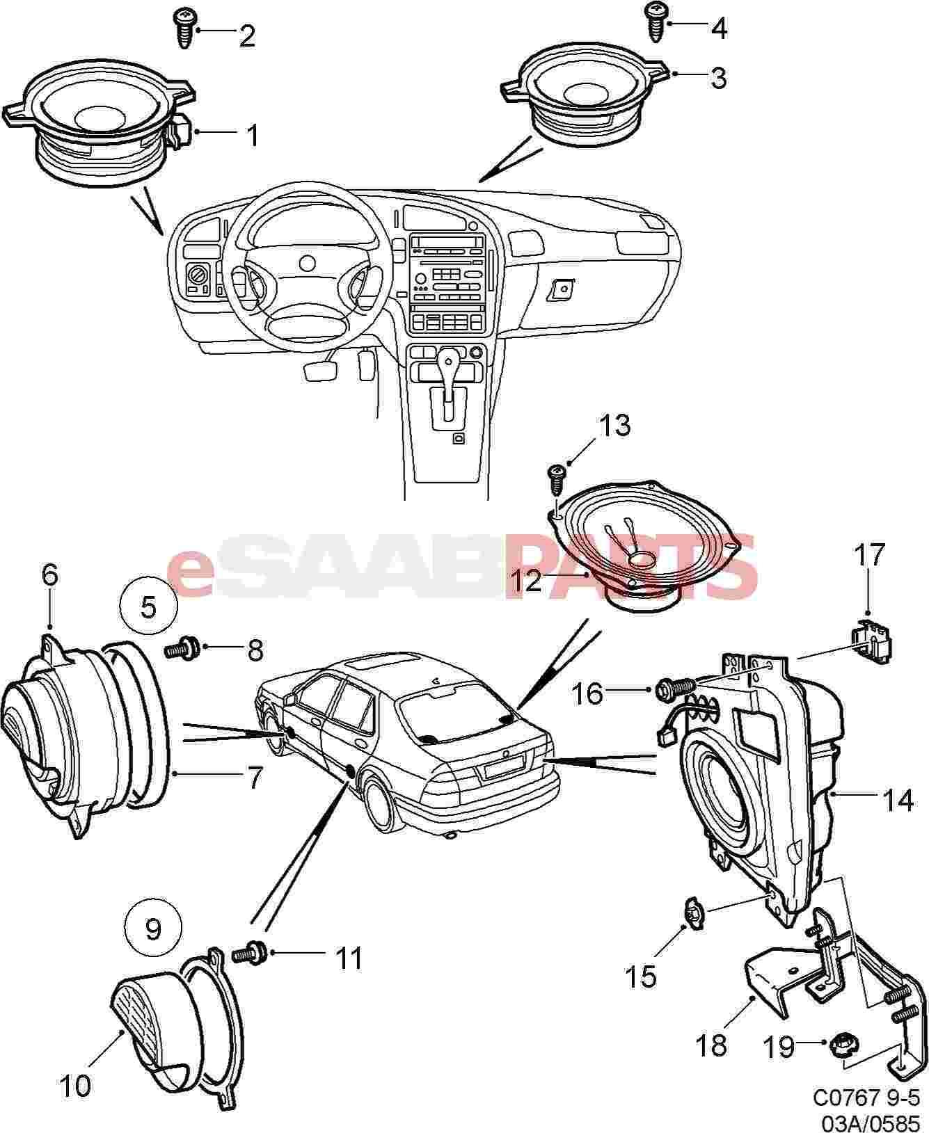 4617007  Saab Loudspeaker