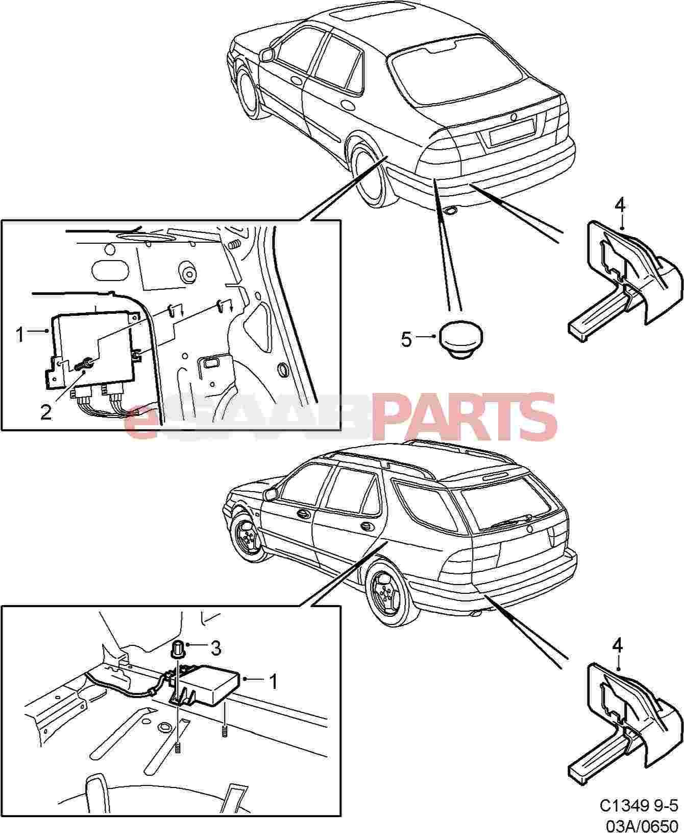 [DIAGRAM_4PO]  eSaabParts.com | Wiring Diagram Saab 95 Parking Assistance |  | eSaabParts.com