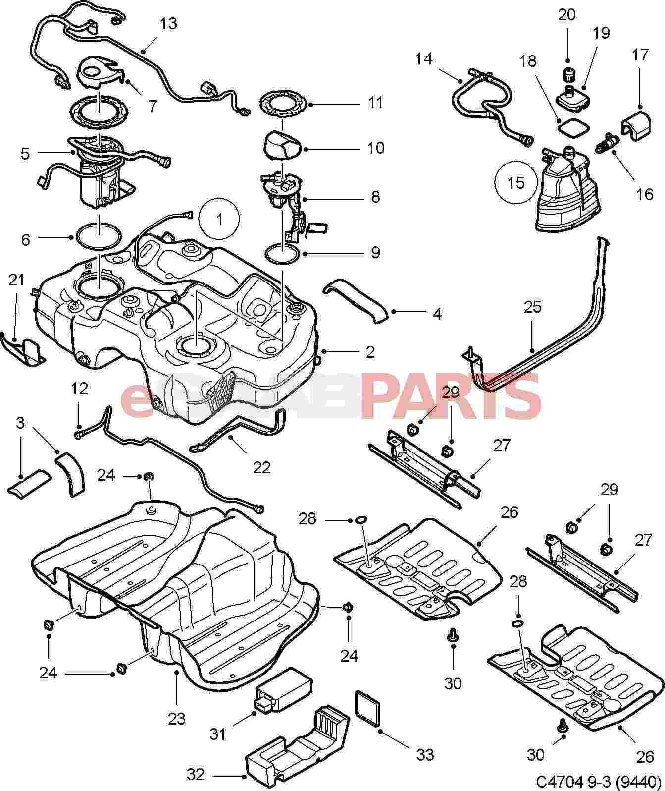 12780869 saab fuel pump v6 xwd genuine saab parts. Black Bedroom Furniture Sets. Home Design Ideas
