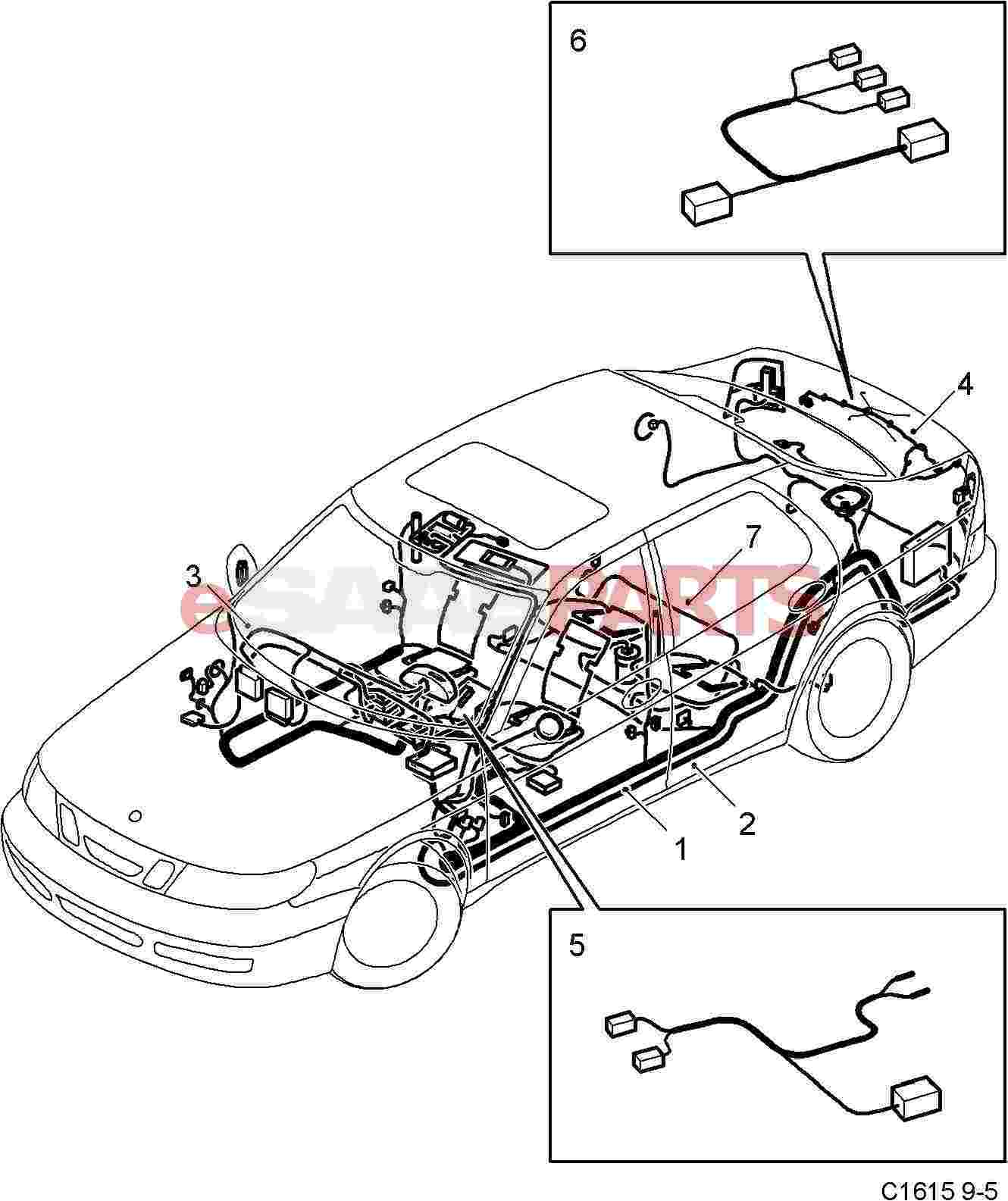 12757092  Saab Cable Harness