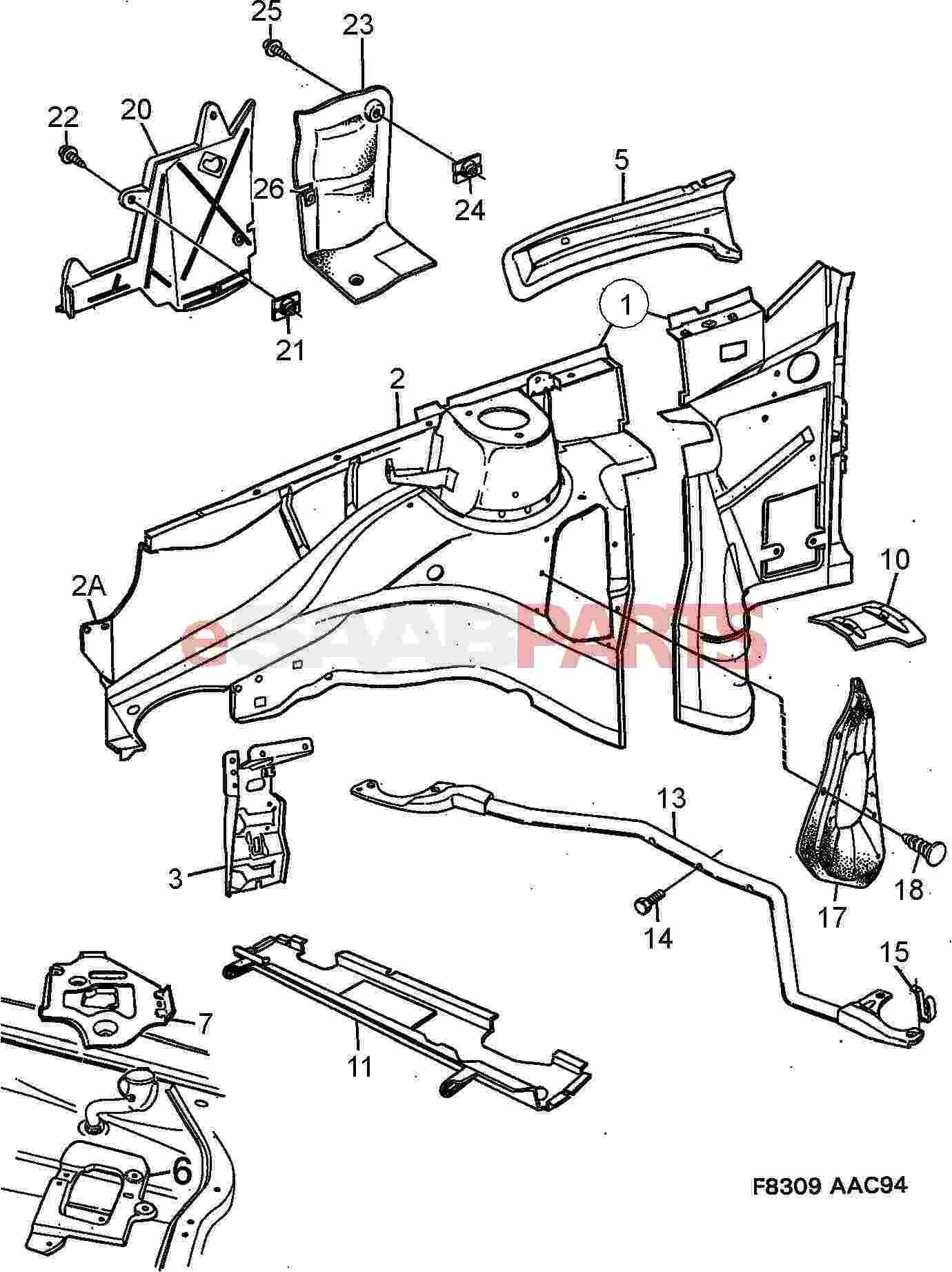 saab 900 chassis diagram