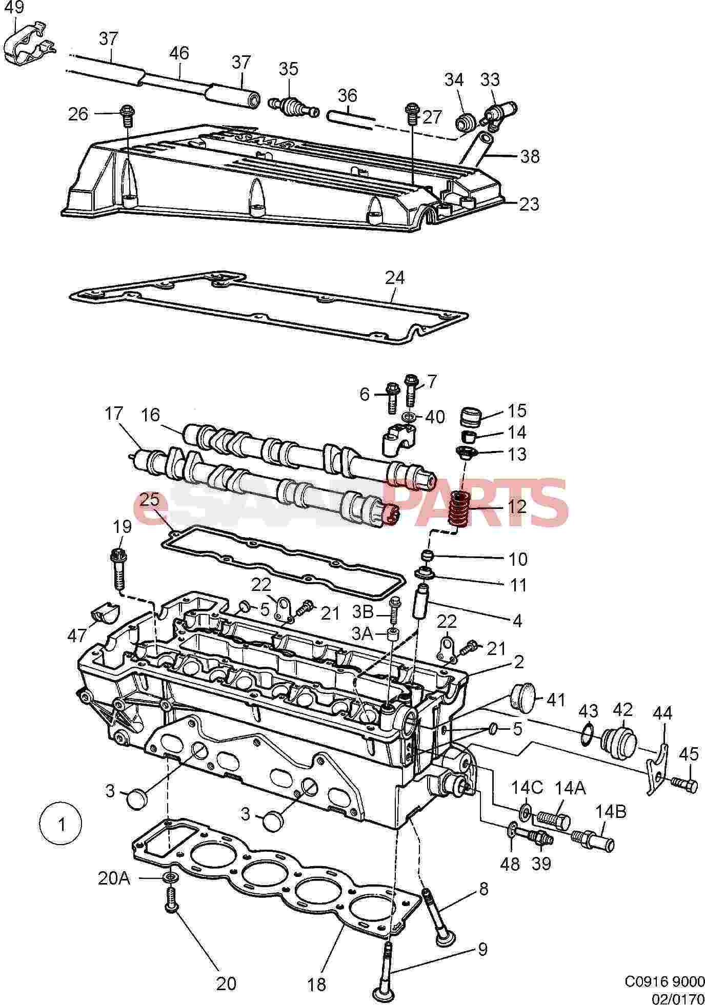 on 2000 Saab 9 3 Engine Diagram