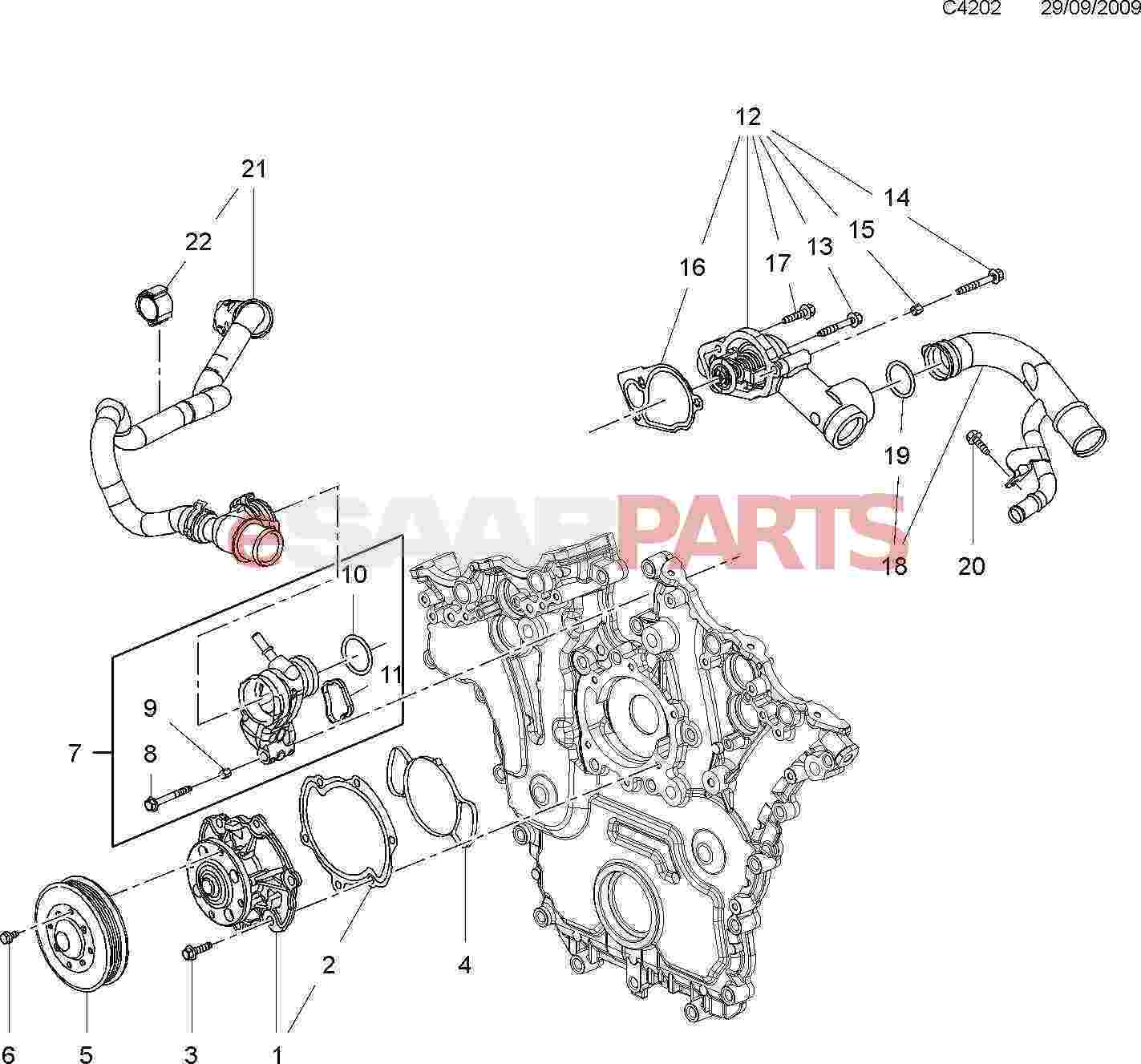 saab 900 water pump wiring diagrams