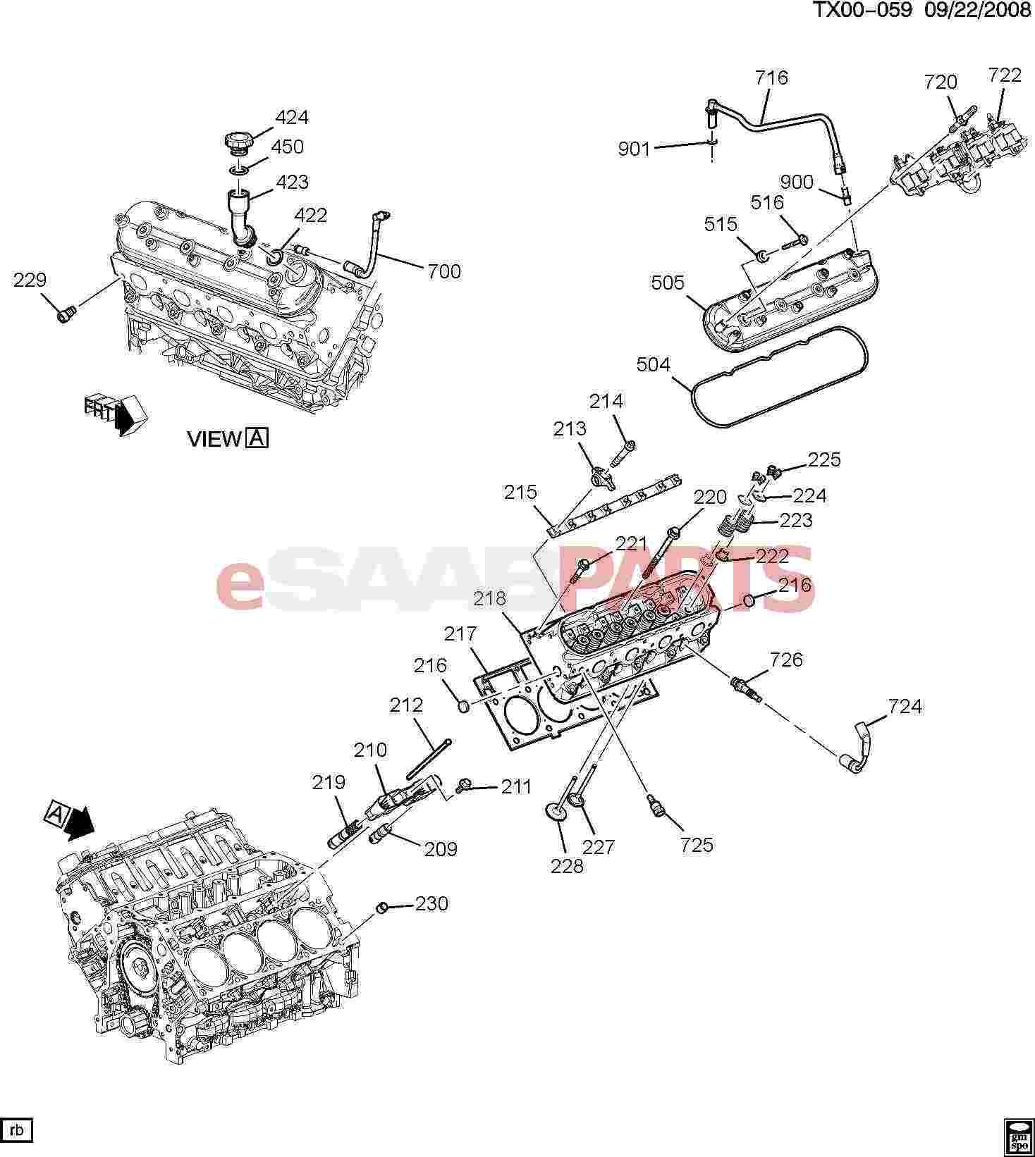 12597774  Saab Tube  Pcv
