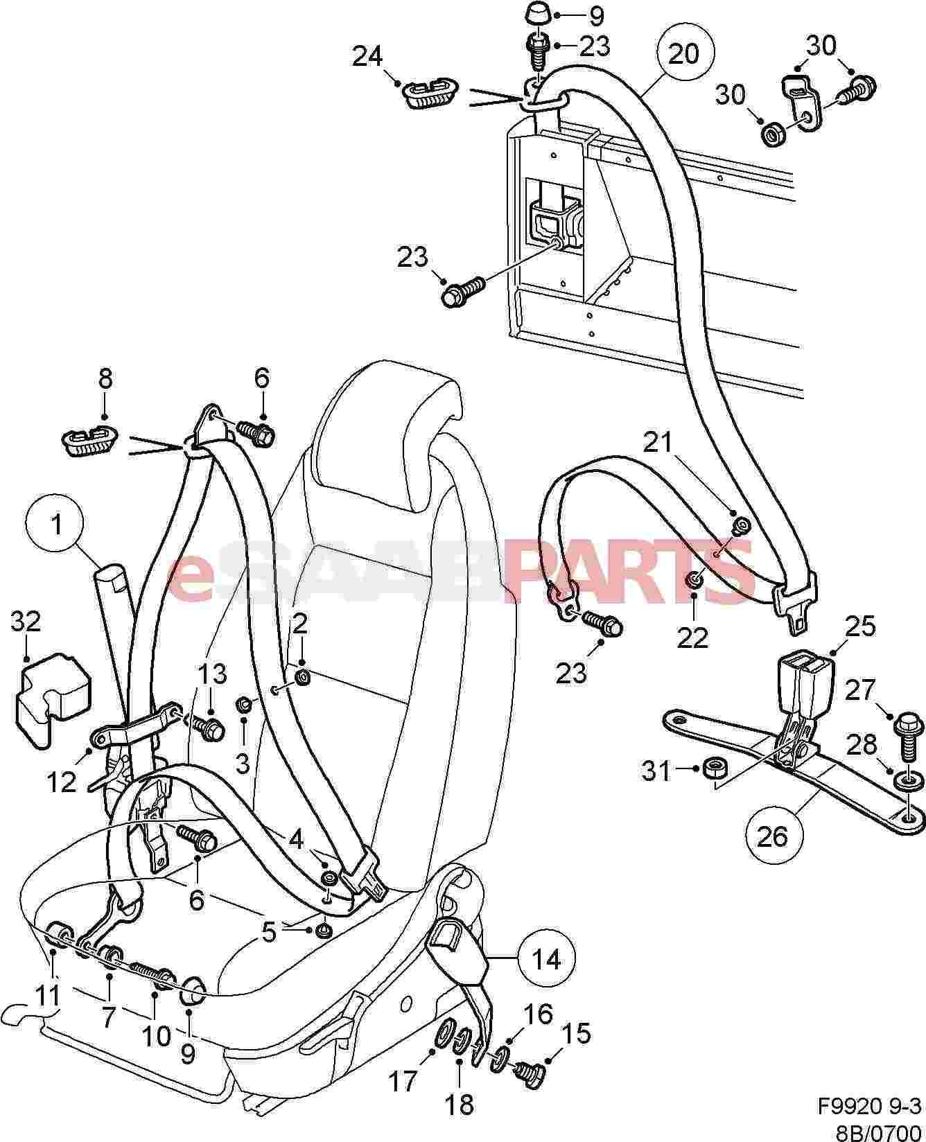 5014337  Saab Seat Belt