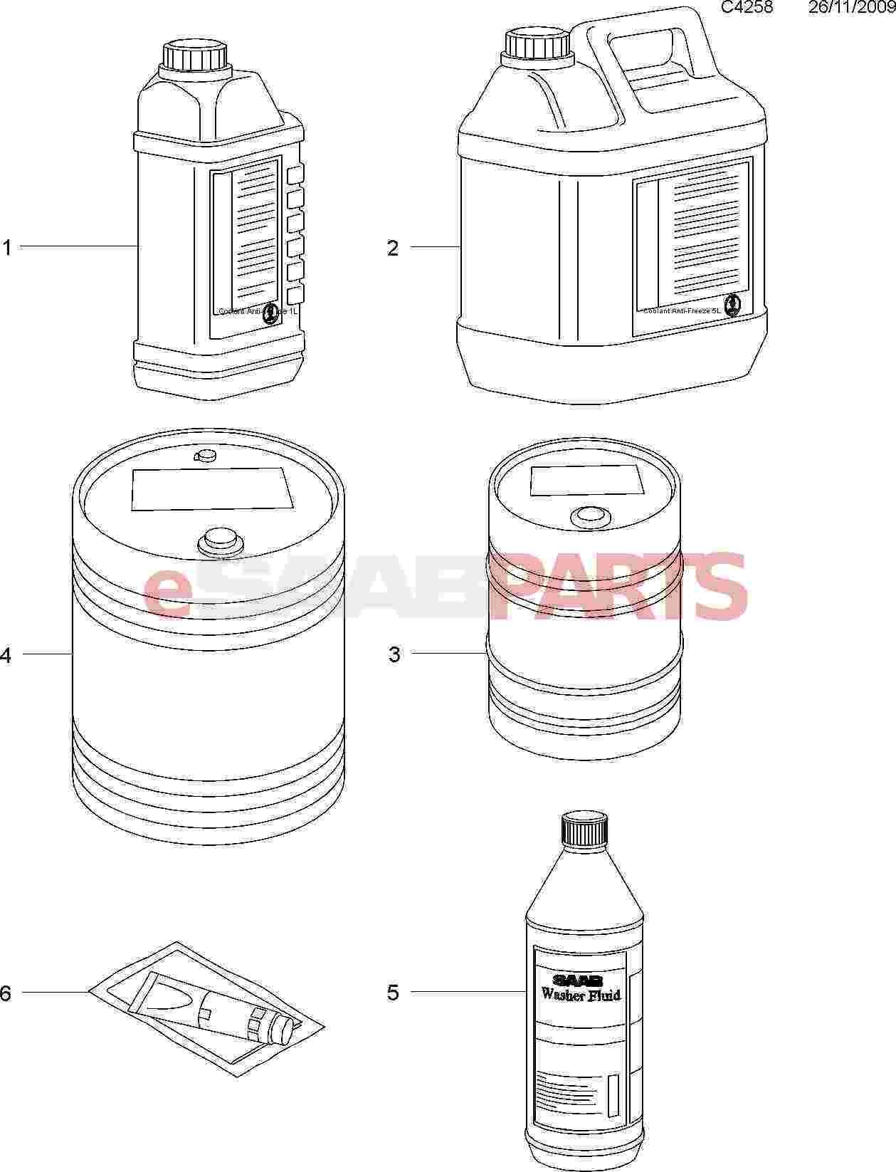 12346290  saab dexcool coolant  antifreeze