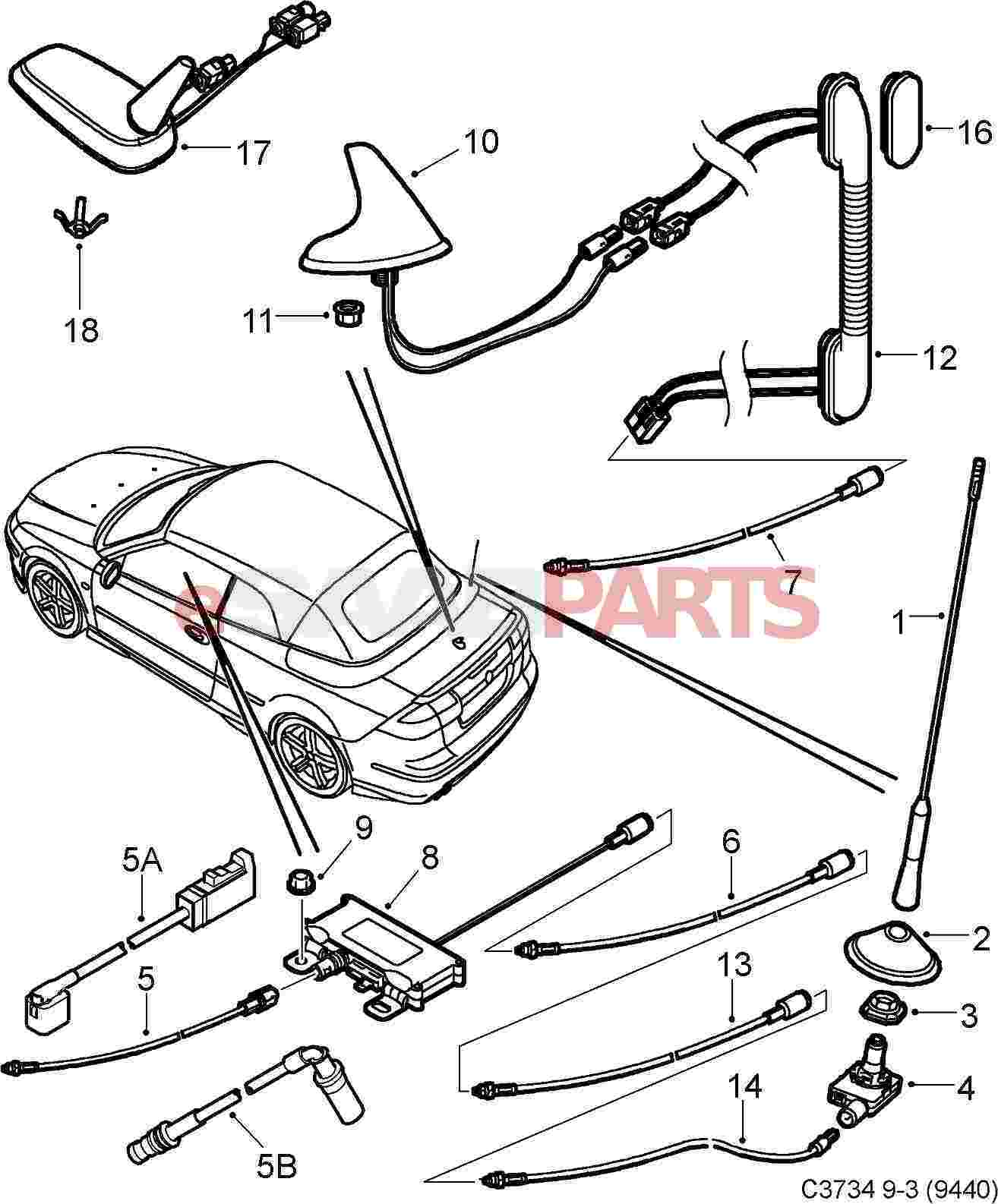 99 saab 9 3 parts diagram  u2022 wiring diagram for free