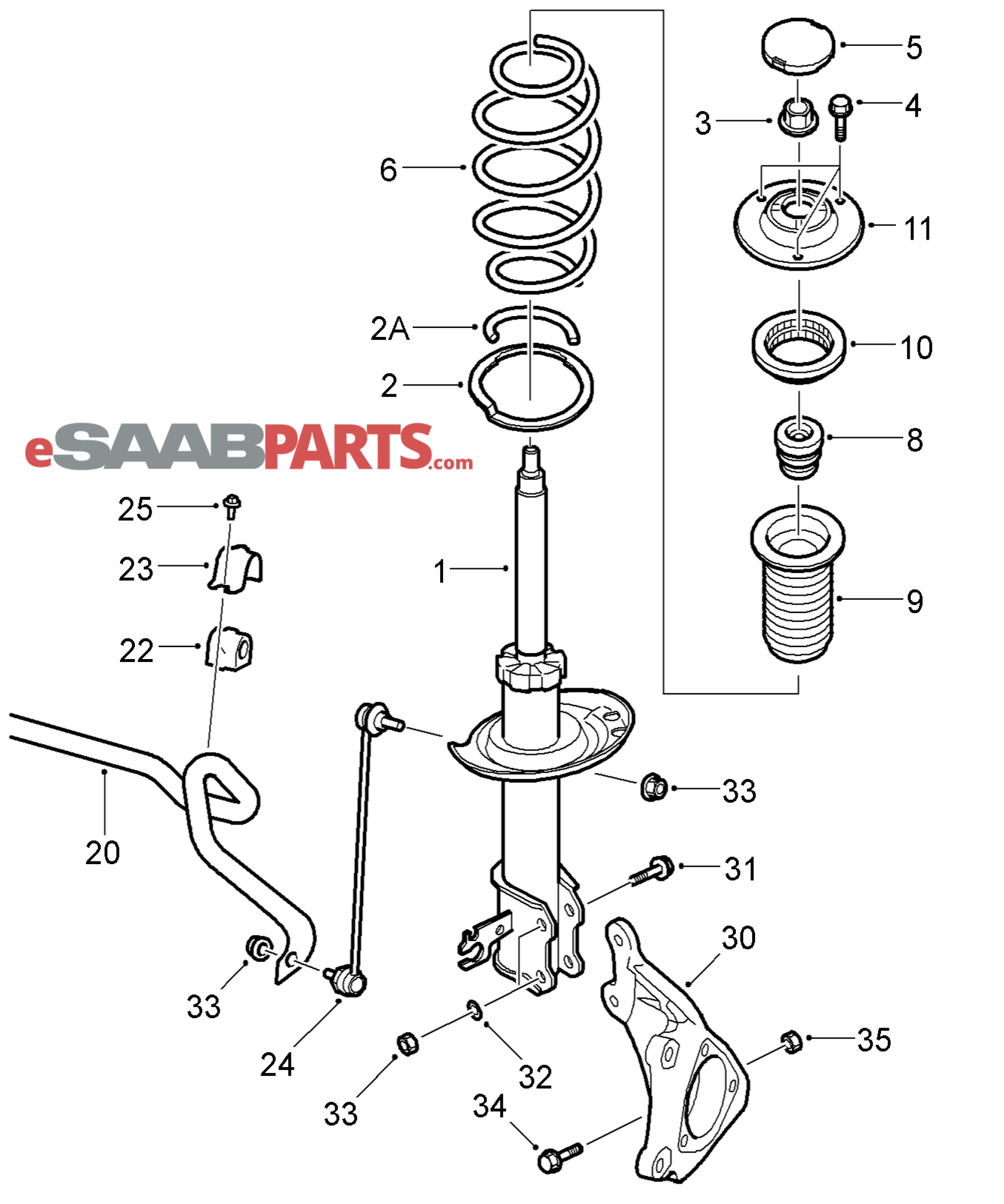 12794486 saab spacer leaf genuine saab parts from esaabparts com rh esaabparts com saab 93 front suspension diagram saab 900 front suspension diagram