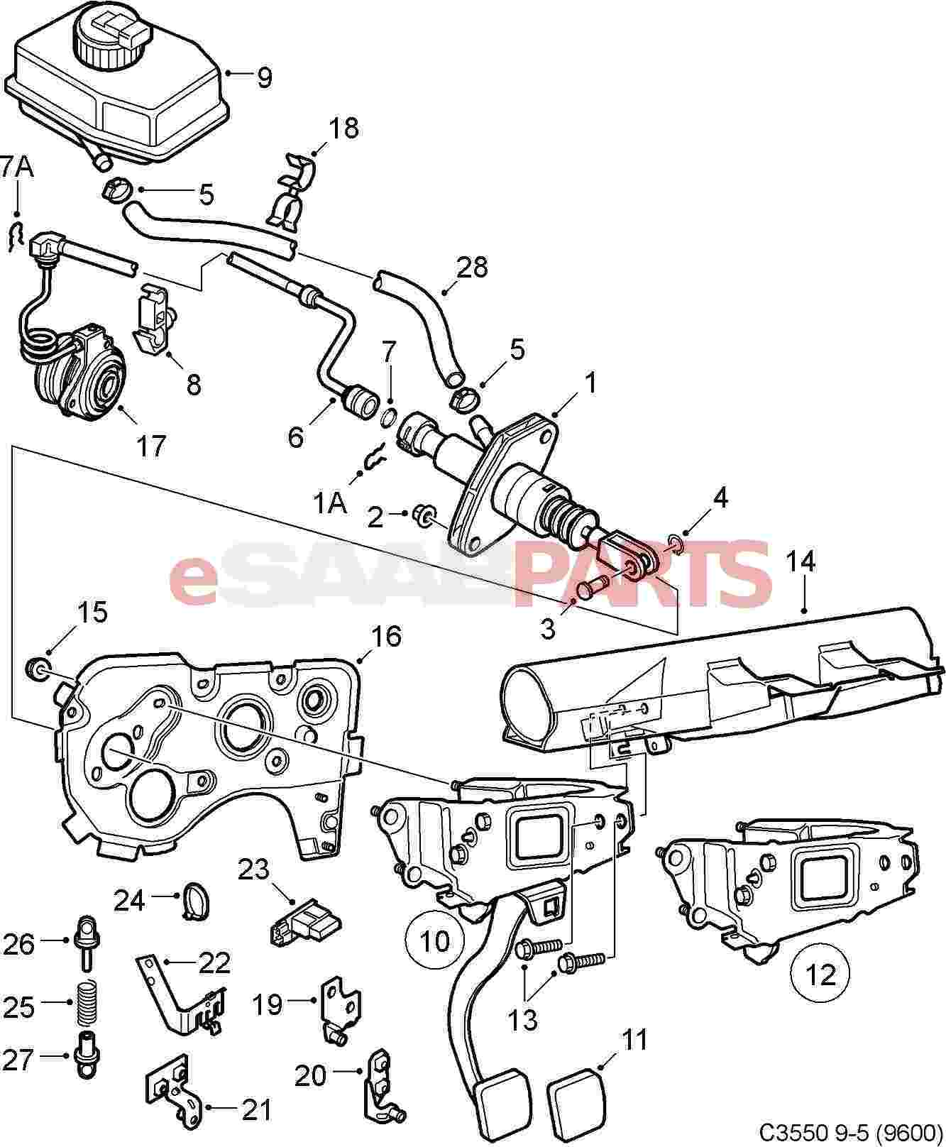 Parts.com® | Saab SEATS AND TRACKS FRONT SEAT COMPONENTS SEAT BACK ...
