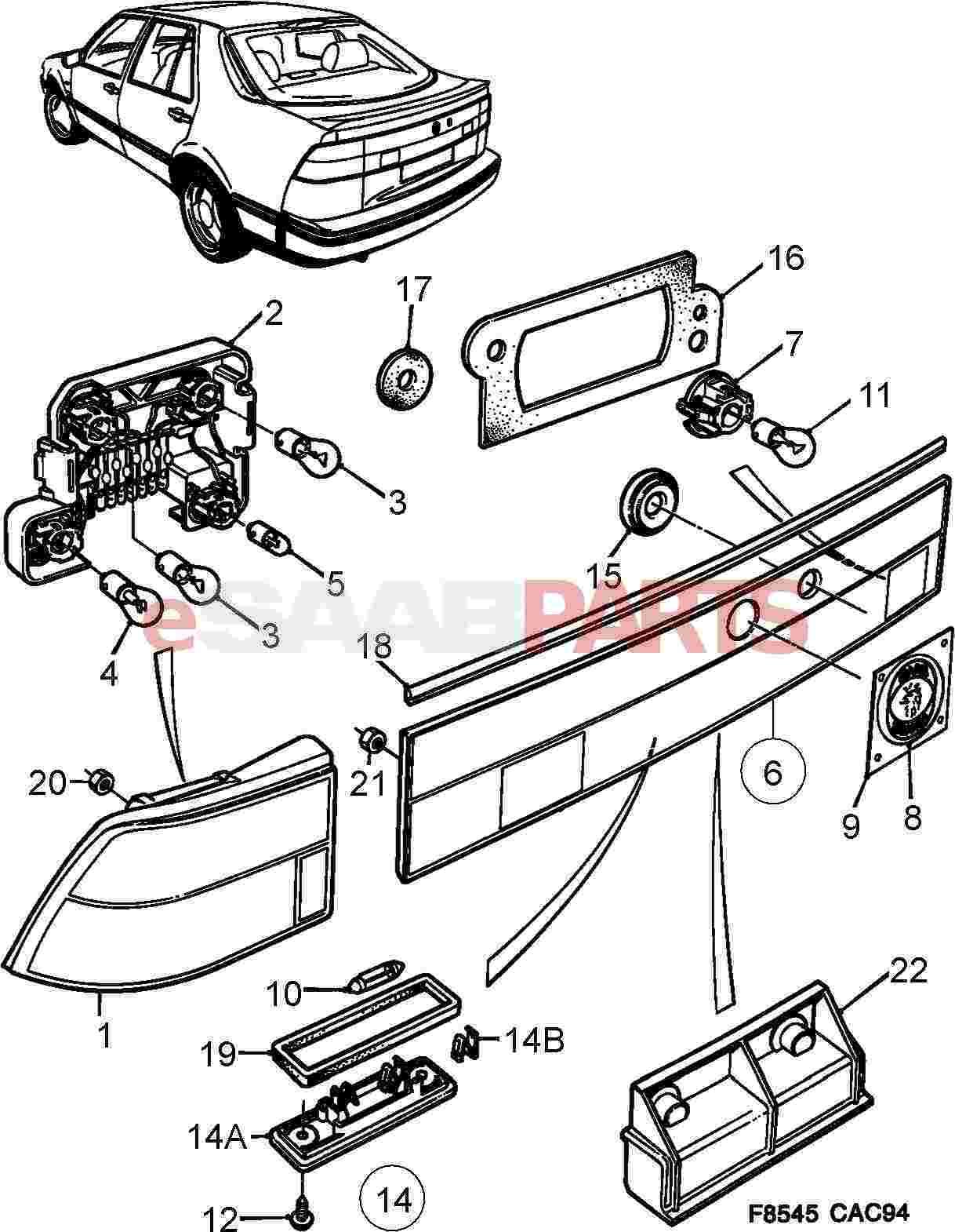 4171856  saab saab scania rear reflection panel emblem